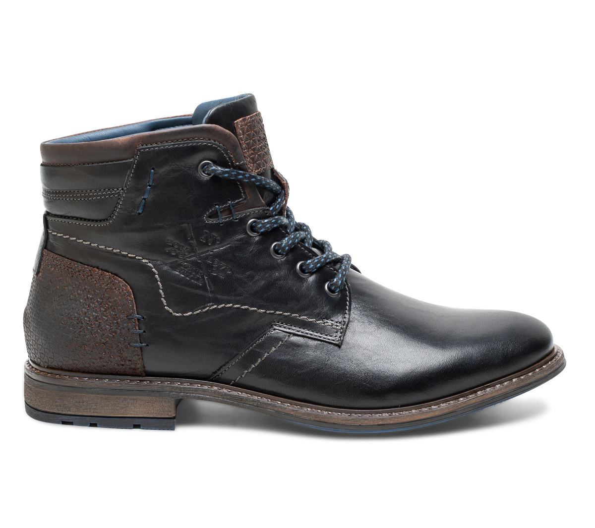 Cuir À Lacet Boots En Noir Eram rdxoCBe