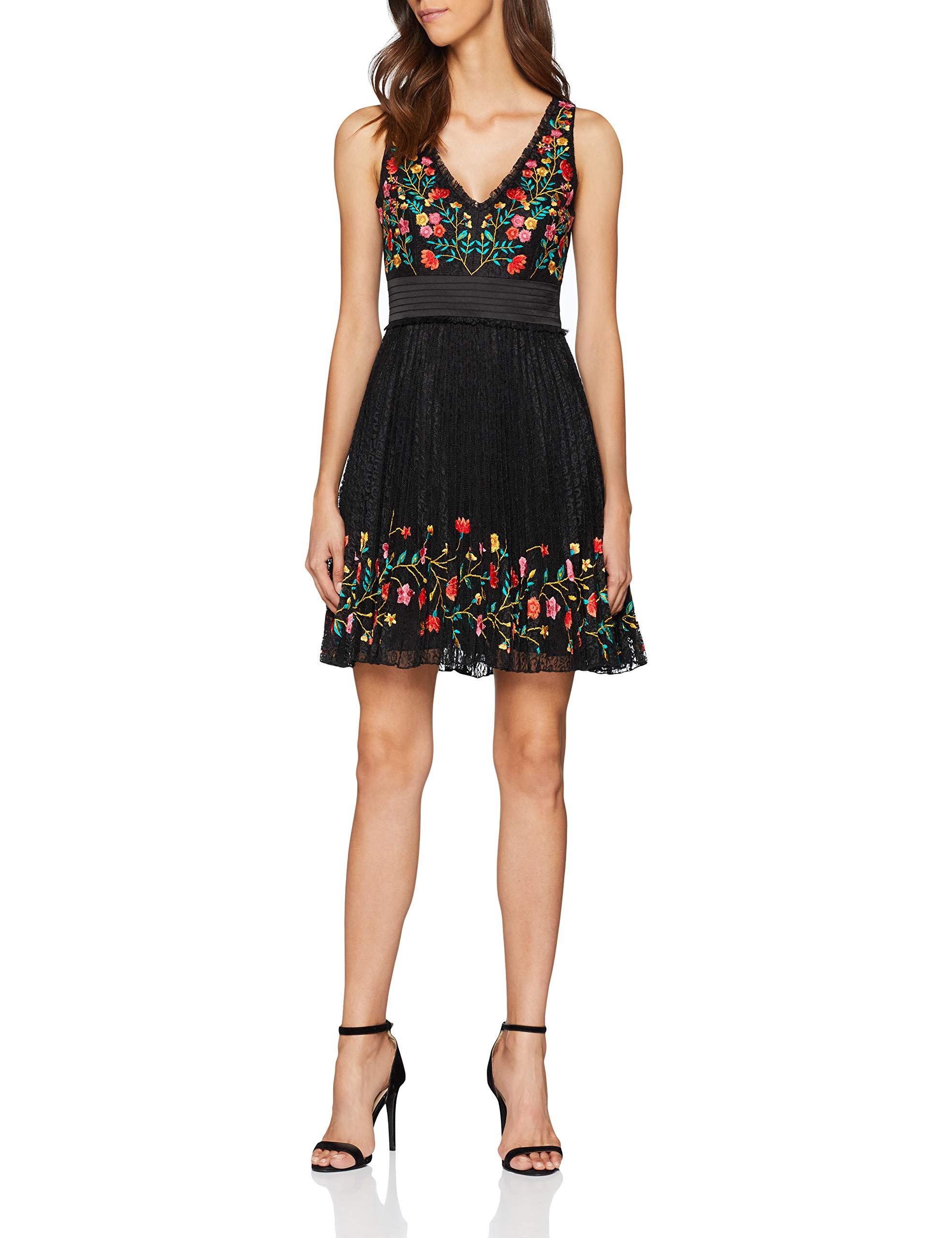 Amity Vnck Femme French RobeNoirblack38 Connection Lace Dress Embr 3qARL54j