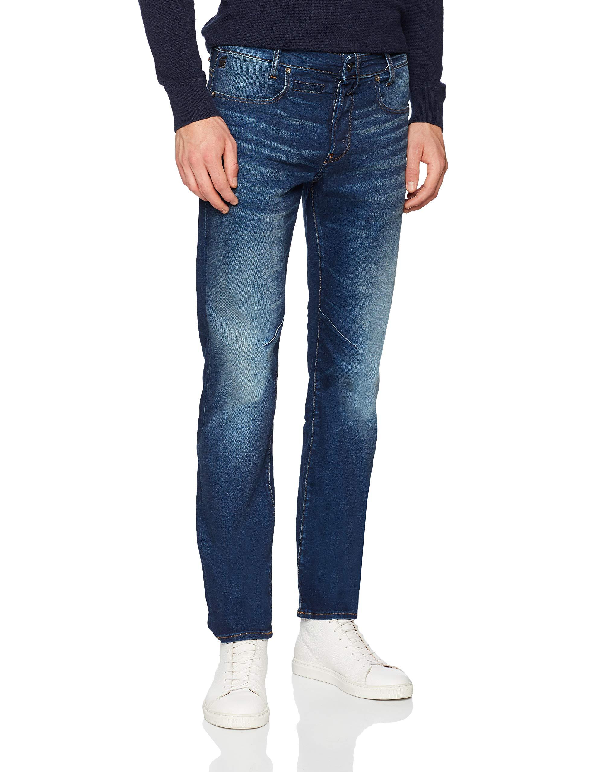 pocket JeansBleudk star Raw A088 Aged DStaq 8933w36l G Homme 5 Straight N8wn0m