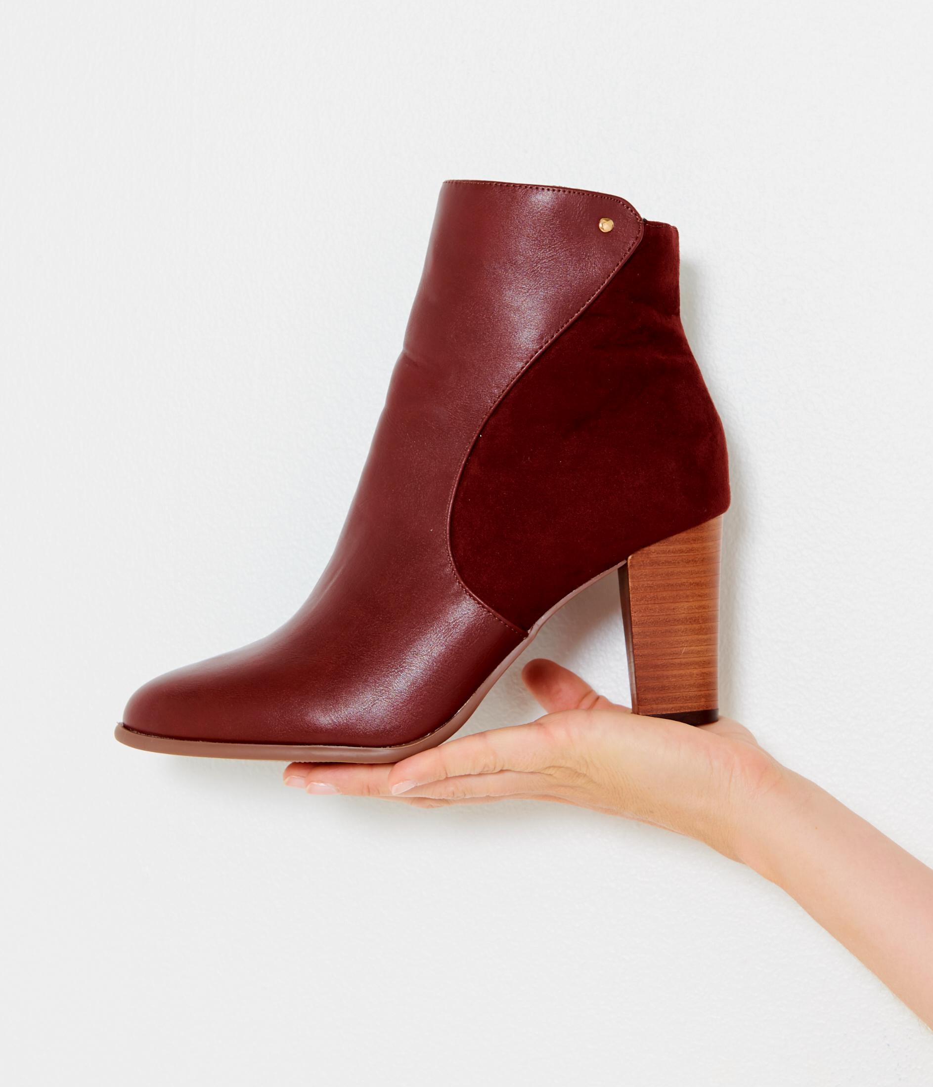 Bi À Boots Talons Camaïeu Femme matière 7gbf6vYy