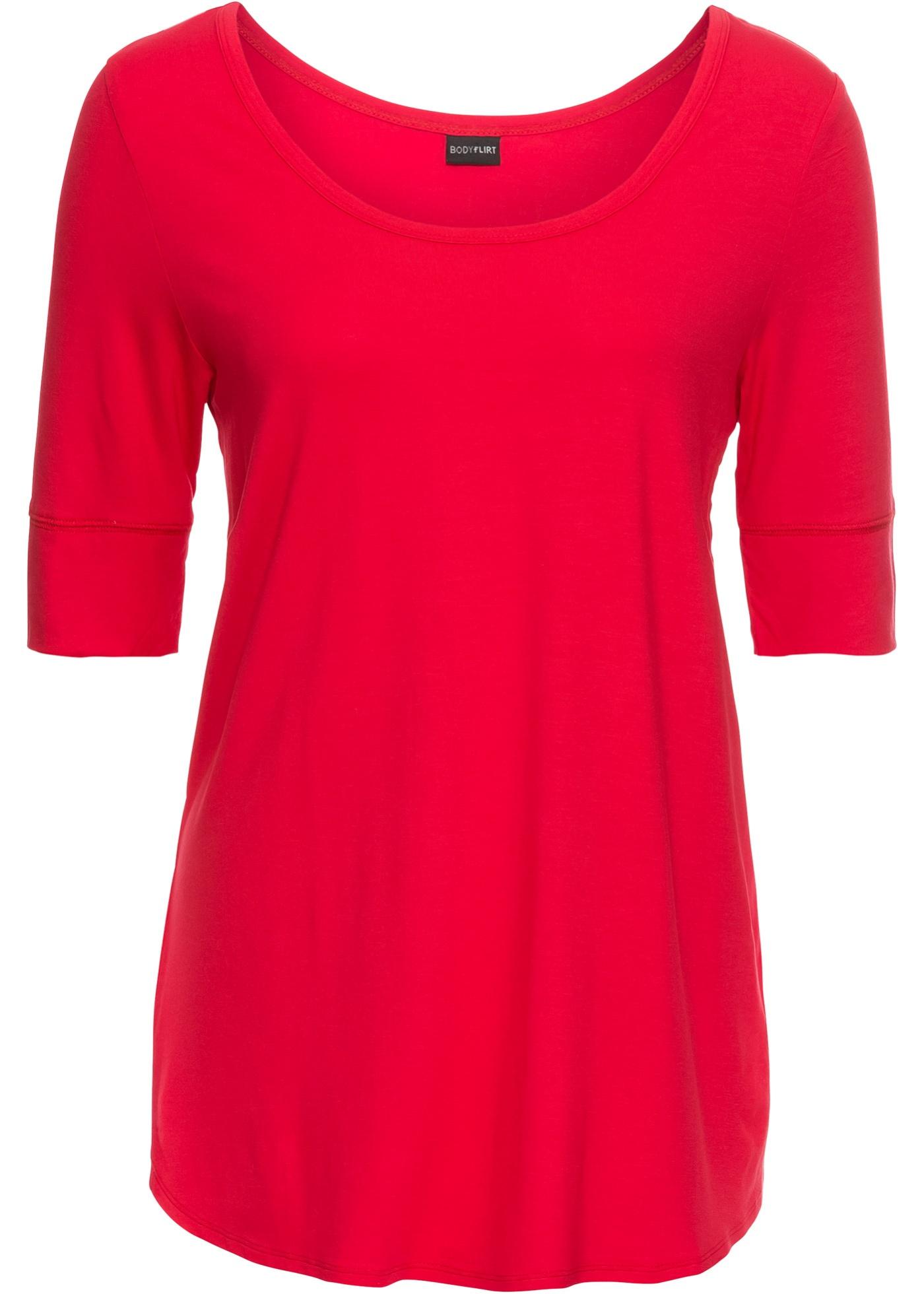 Rouge Manches 3 Pour 4 Bodyflirt shirt BonprixT Femme OPXikZu
