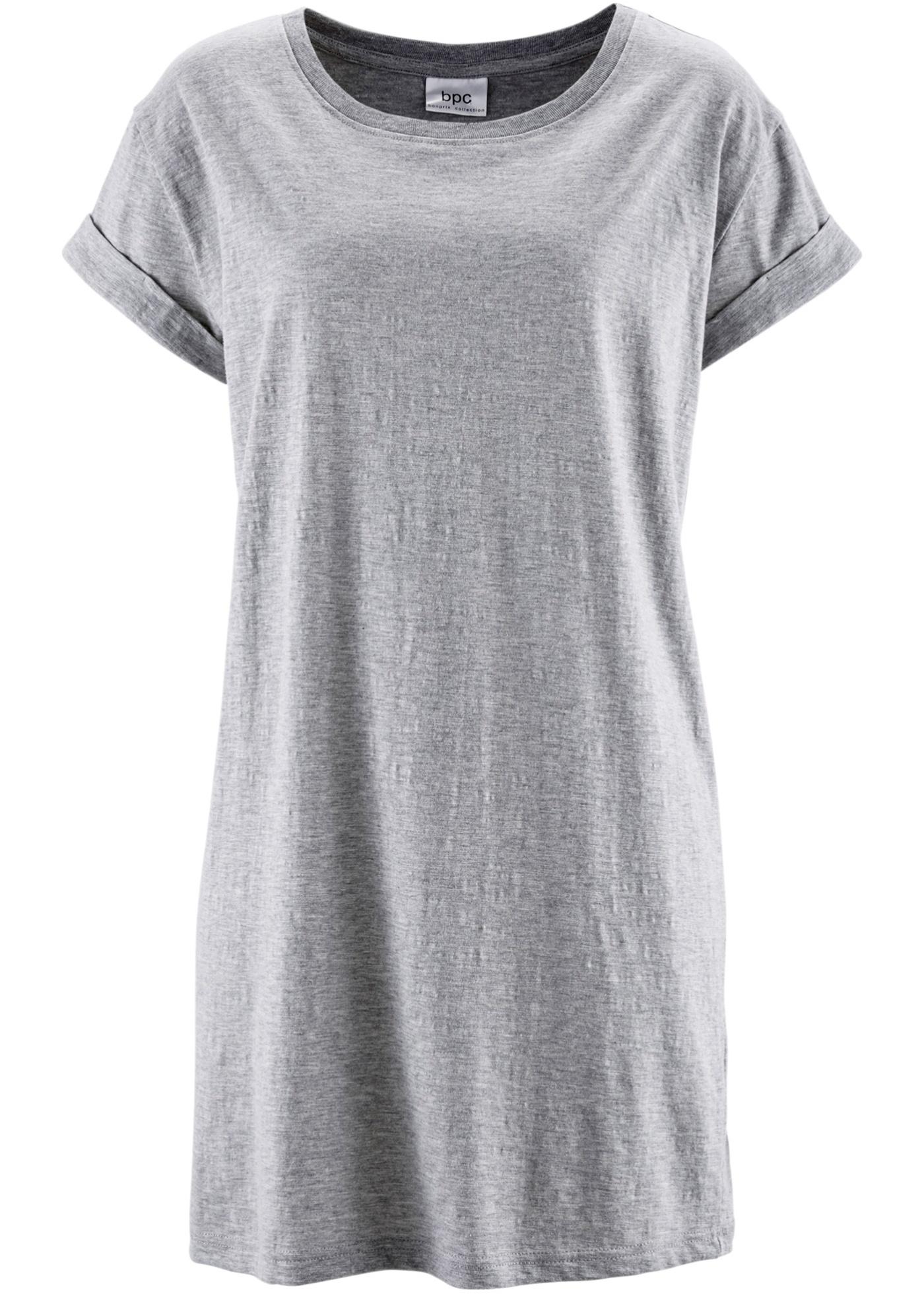 CollectionT Long Courtes Boxy Gris Bpc Manches shirt Bonprix Femme À Pour vnOm80yNw