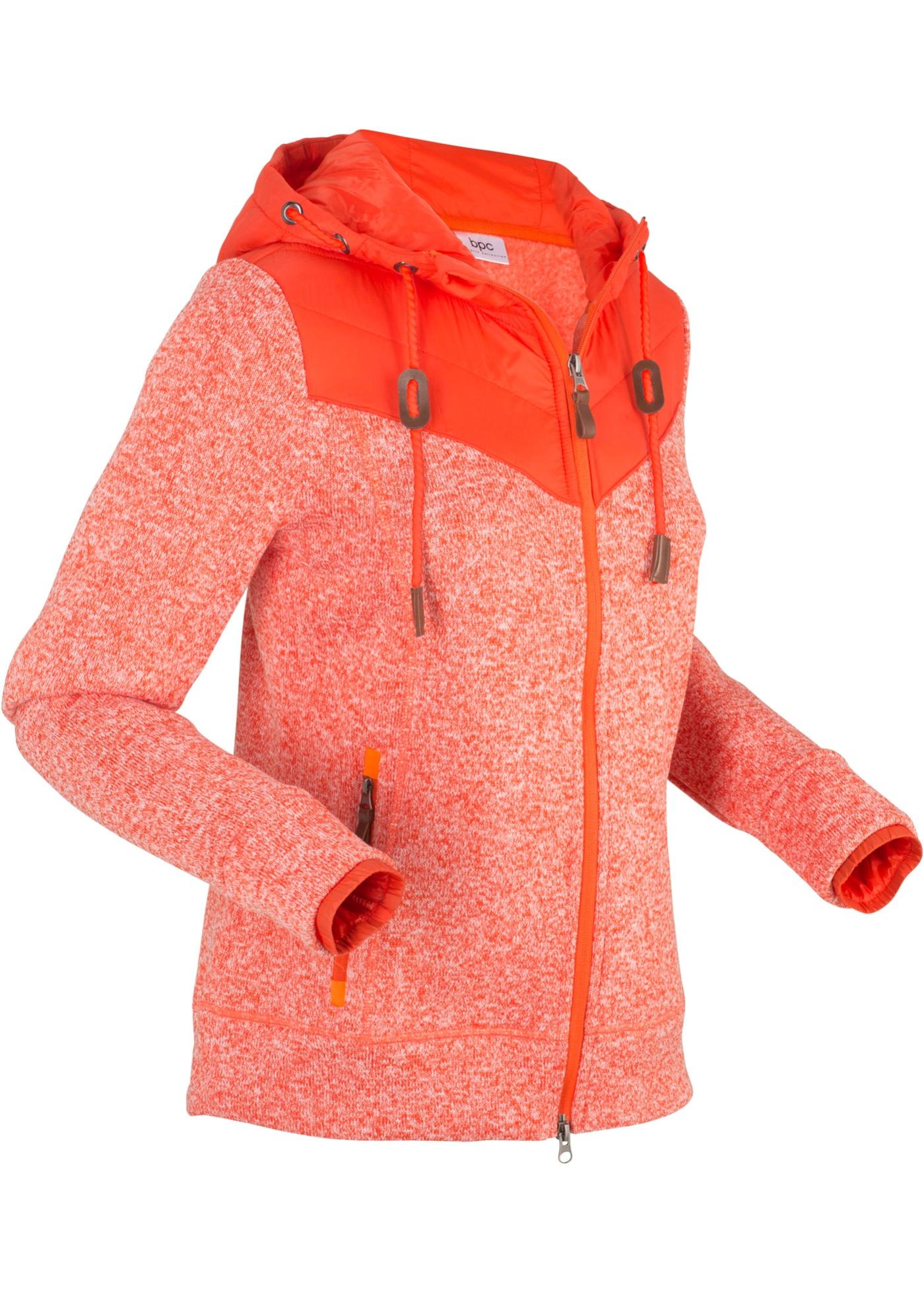 Longues CollectionVeste Pour Polaire Femme Manches Bpc Orange Bonprix T3FlK1cJ