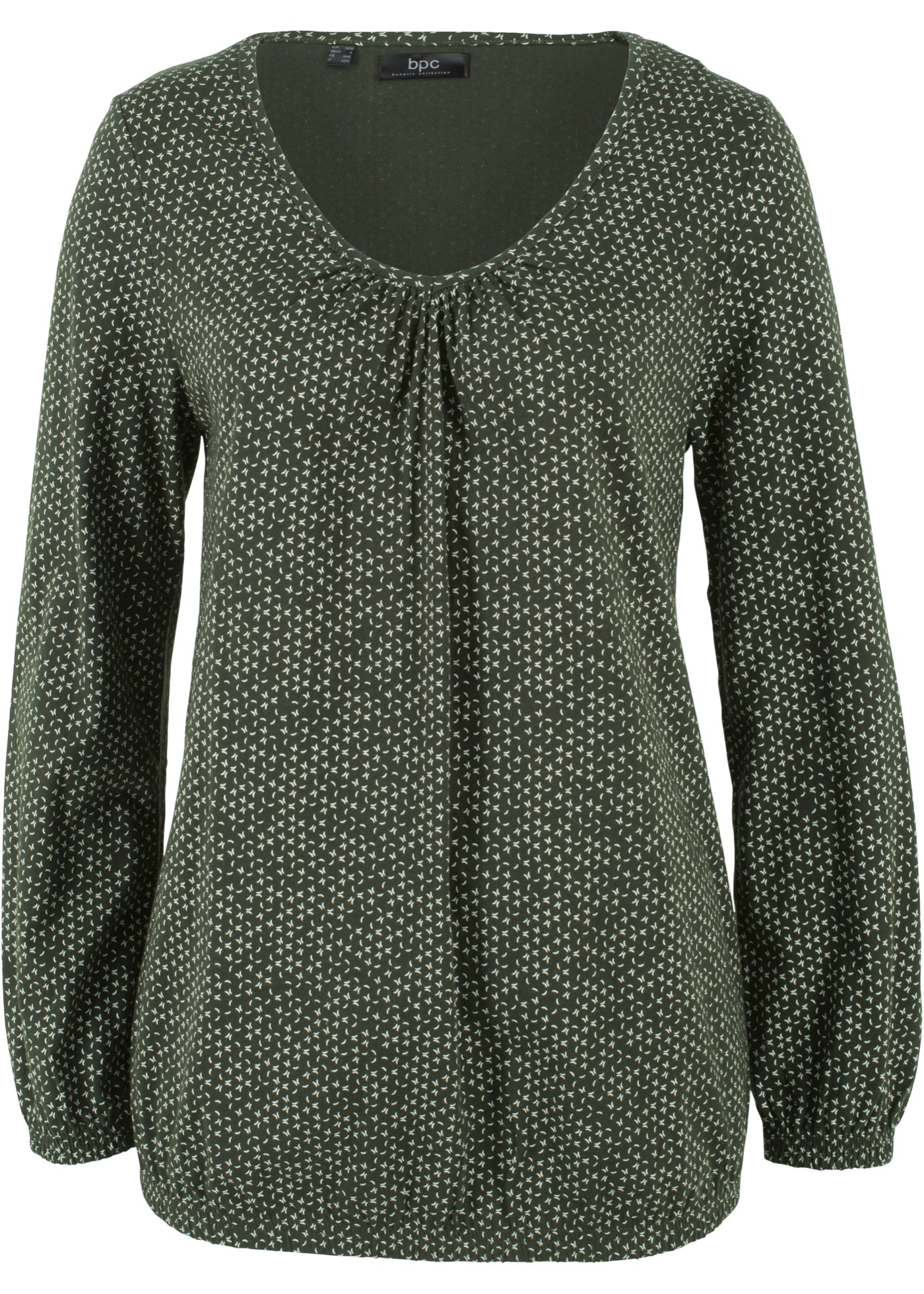 CotonManches Vert Femme Bpc shirt CollectionT Pour Bonprix Longues ARqj354L
