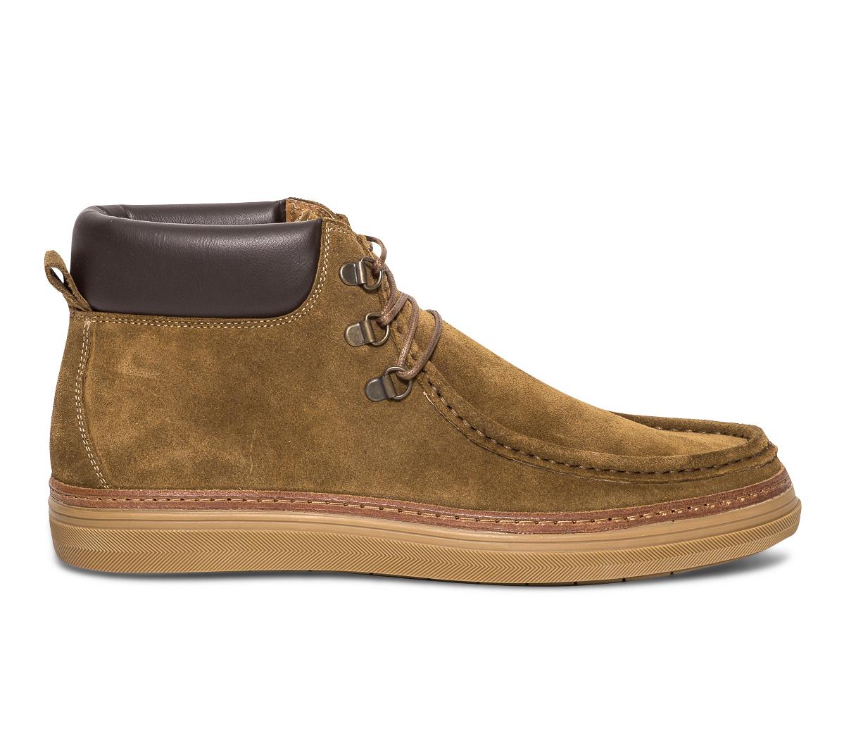 Velours Eram Plateau Cuir Marron Boots En kOPuiZTwX