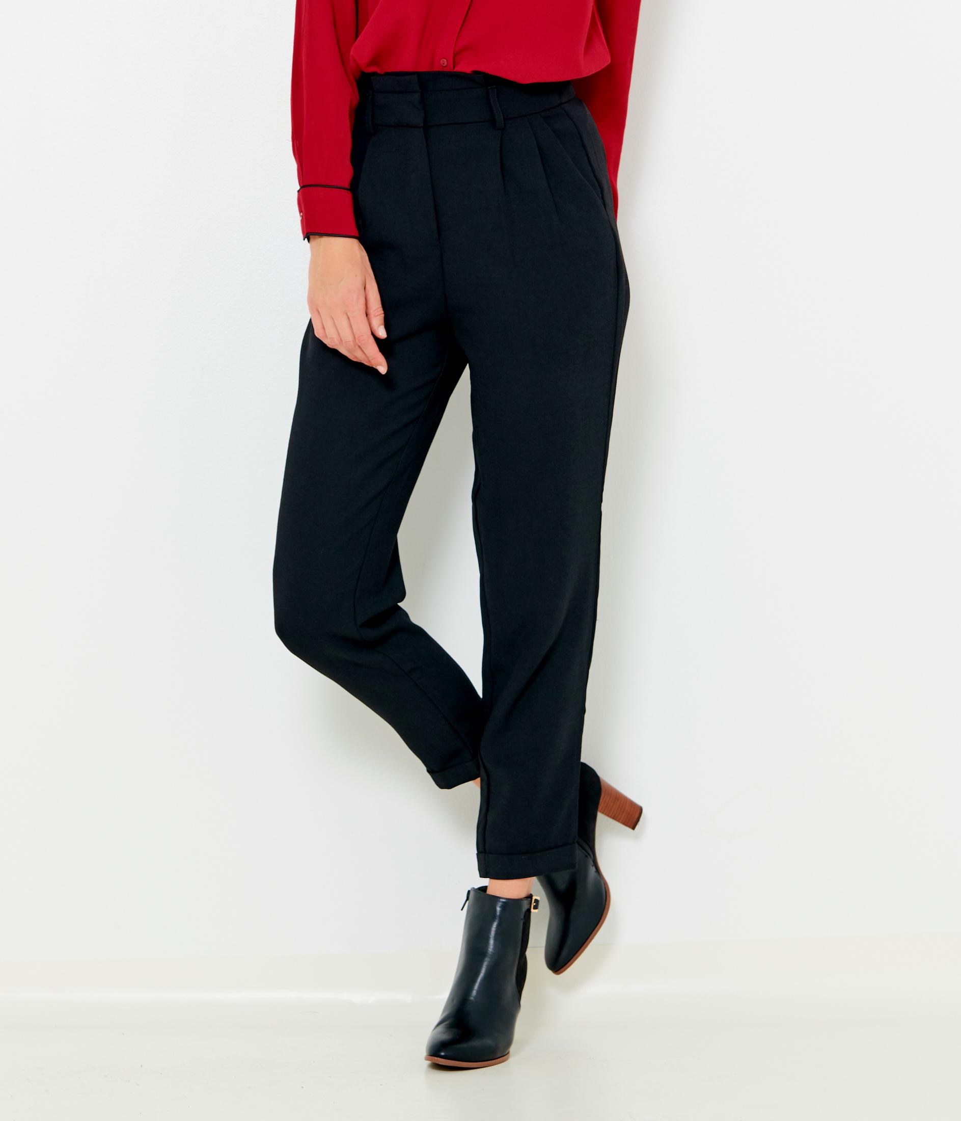 Pantalon En Crêpe Camaïeu Femme Carotte SVzGUMqp