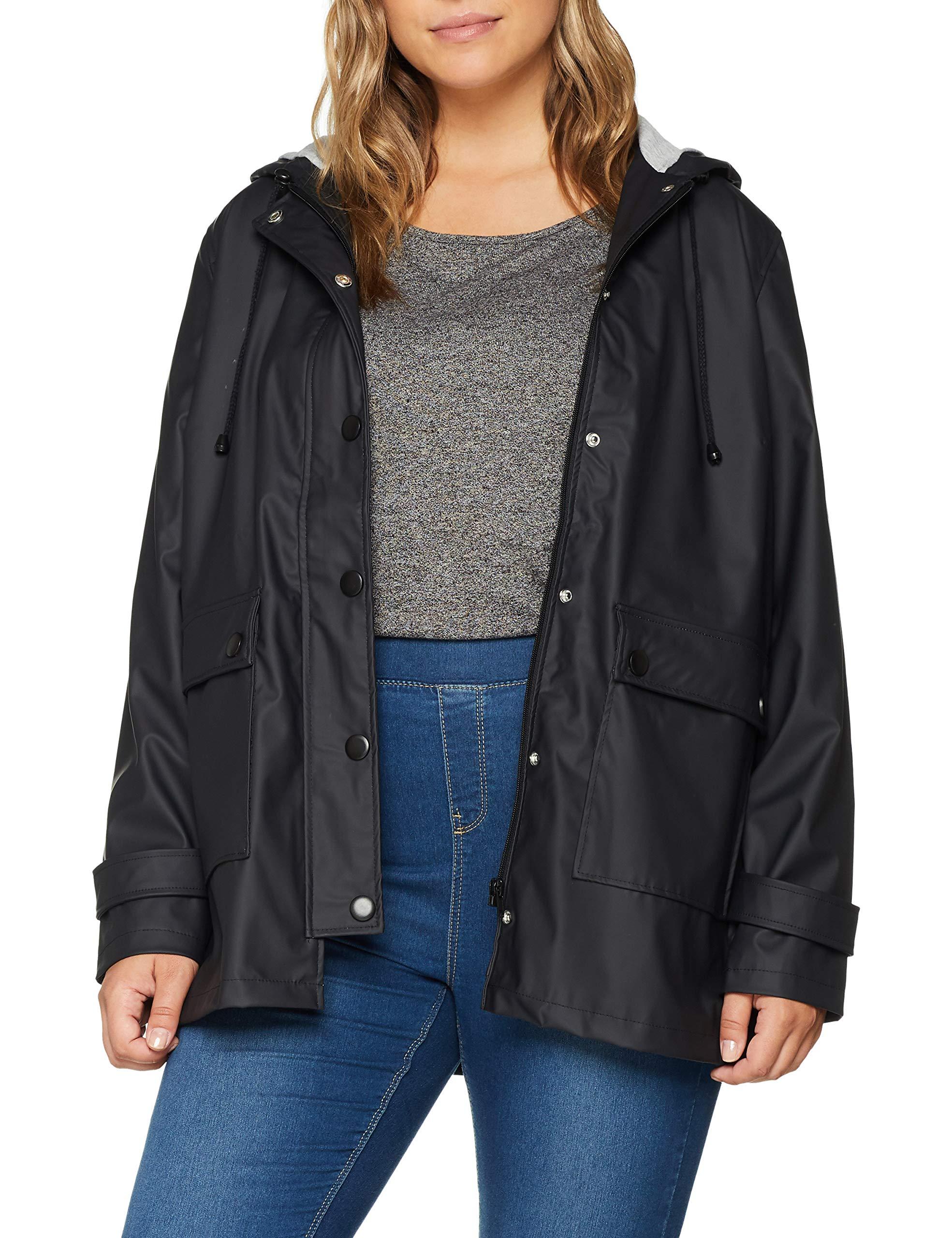 Simply Pu Be ImperméableNoir44 Femme Jacket Rain Manteau wn80vmN