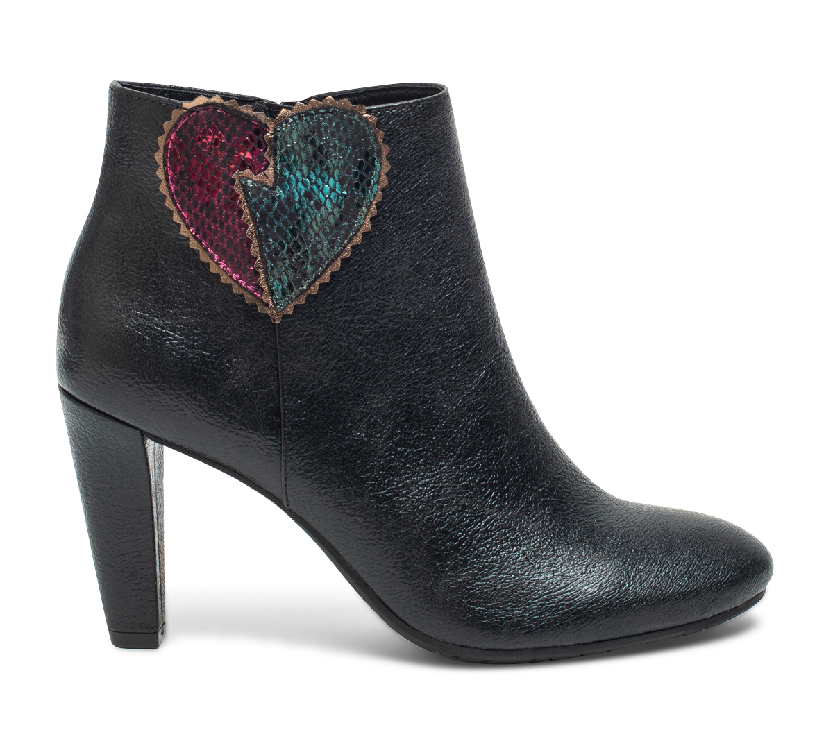 Métallisé Noir À Eram Cœur Boots fb76Ygy
