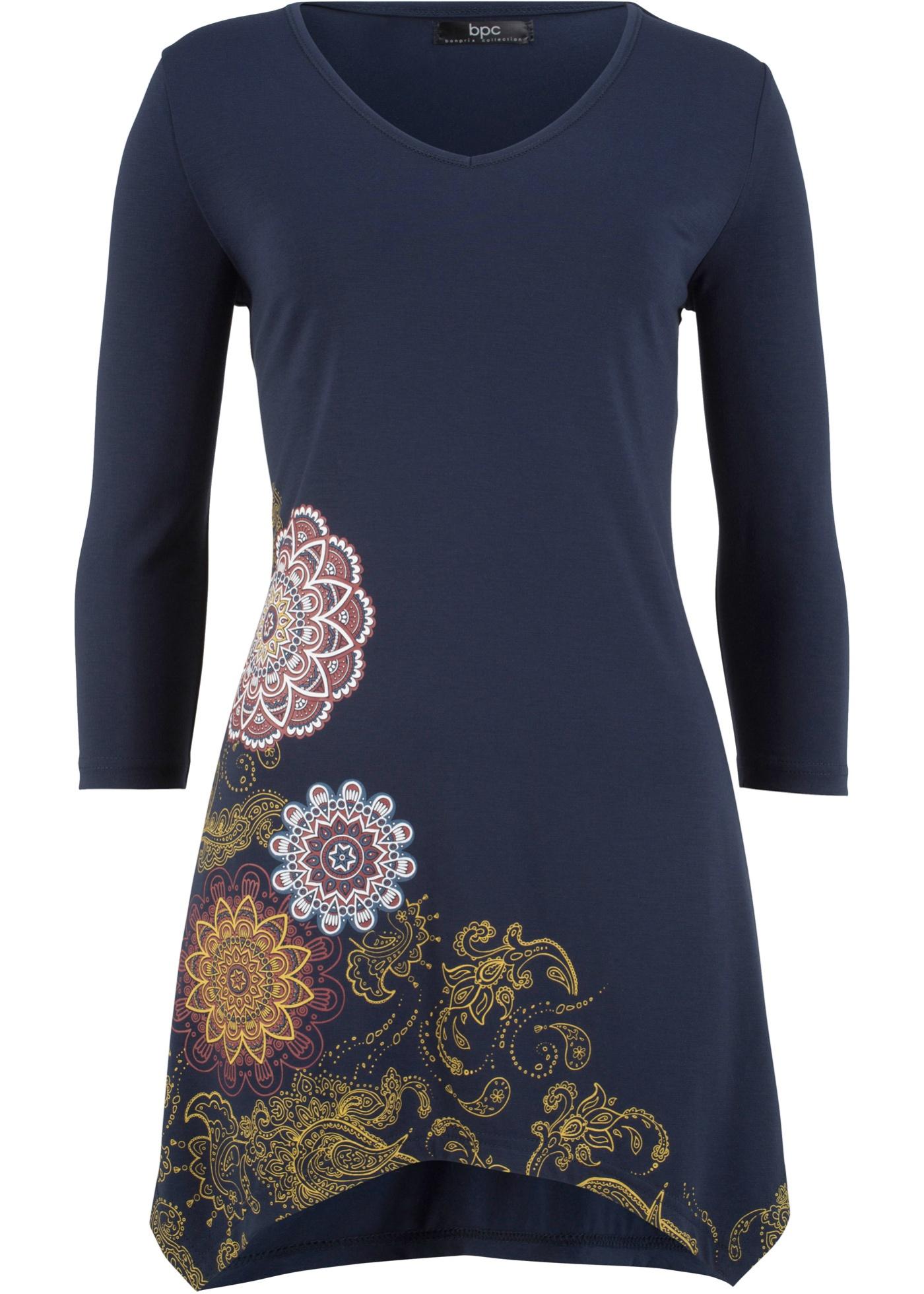 PansManches 4 Bonprix À 3 Bpc shirt Pour Femme Bleu CollectionT A5jL3R4