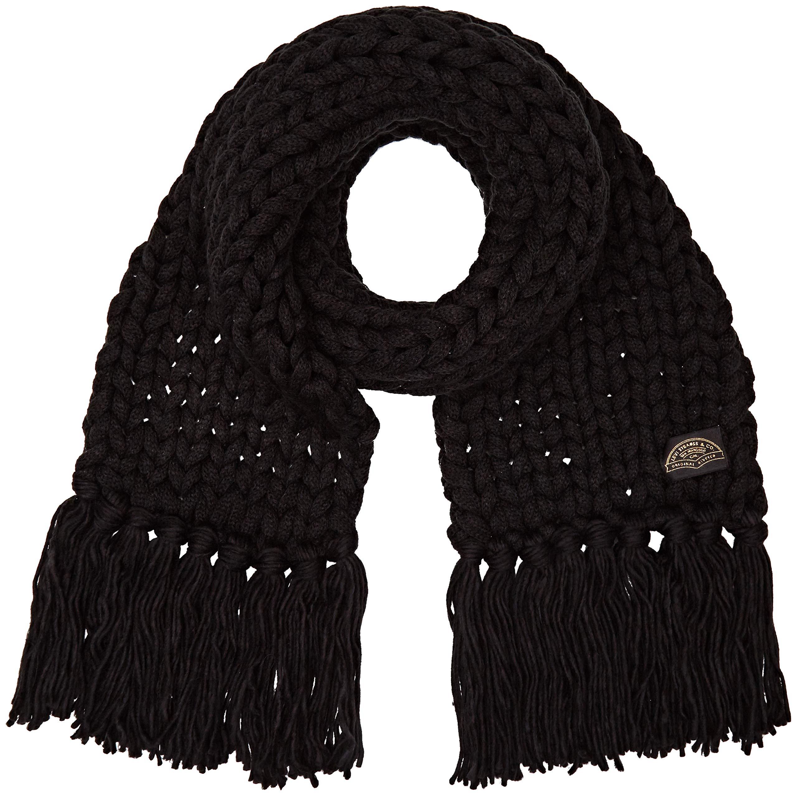 Knit Black Oversized Regular 59Uniquetaille Echarpenoir Chunky FabricantUnFemme Scarf Levi's MqzSUVGp