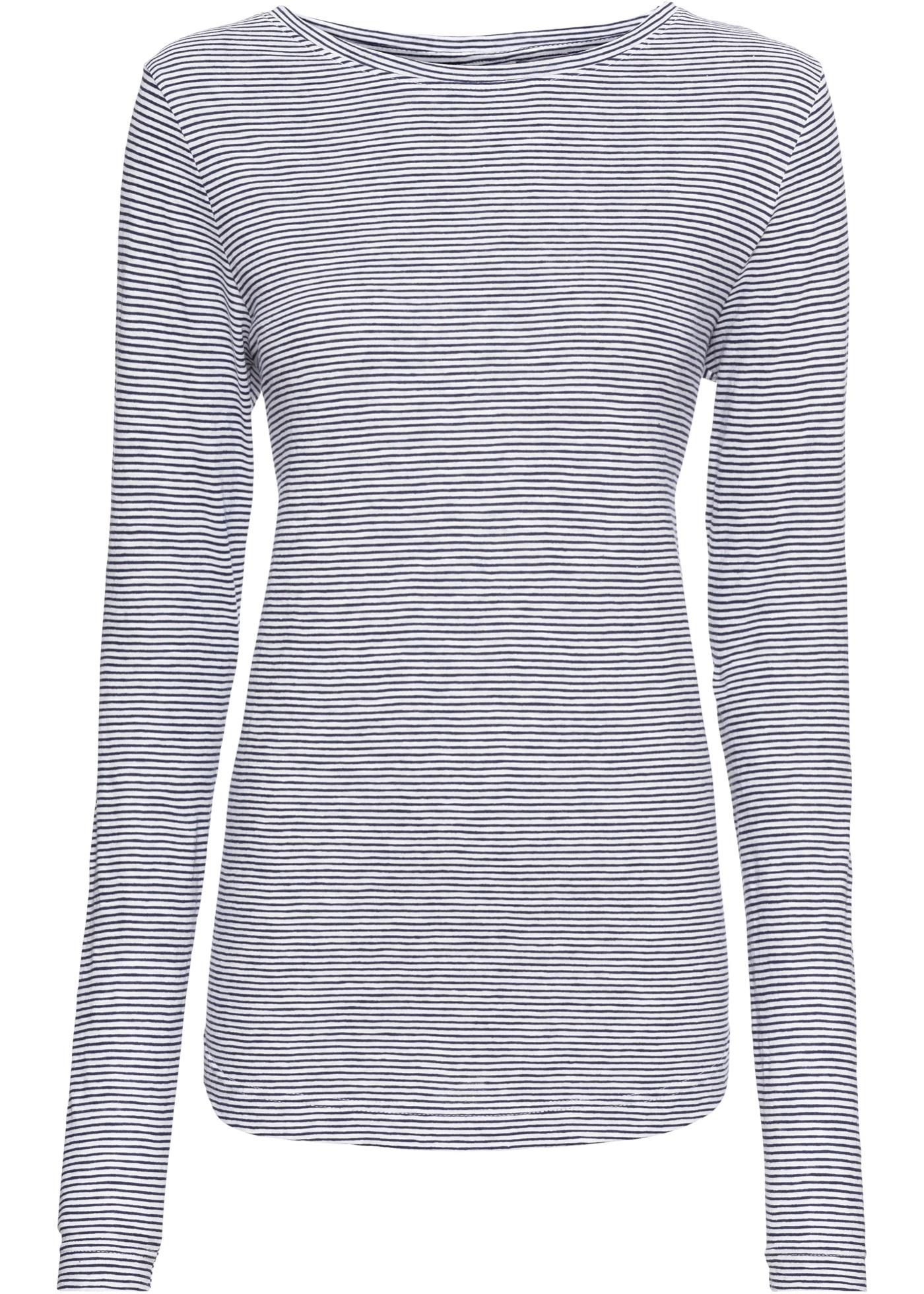 BonprixT Rainbow Manches Longues shirt Femme Rayé Bleu Pour RScj543ALq