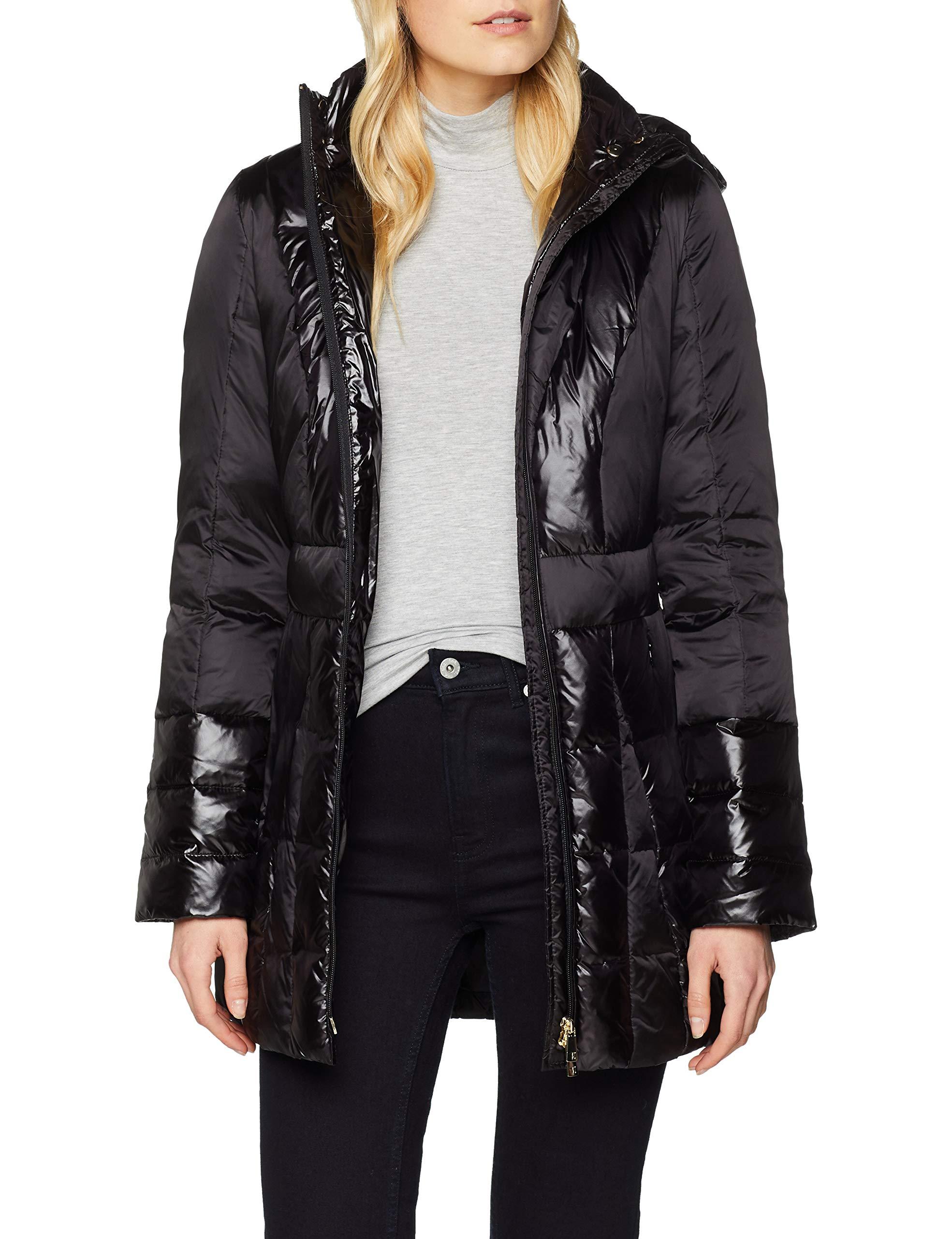 Trussardi Jeans Fit Hood Slim ManteauNoirblack Coat Whith Femme K29940 vy0m8nOwN