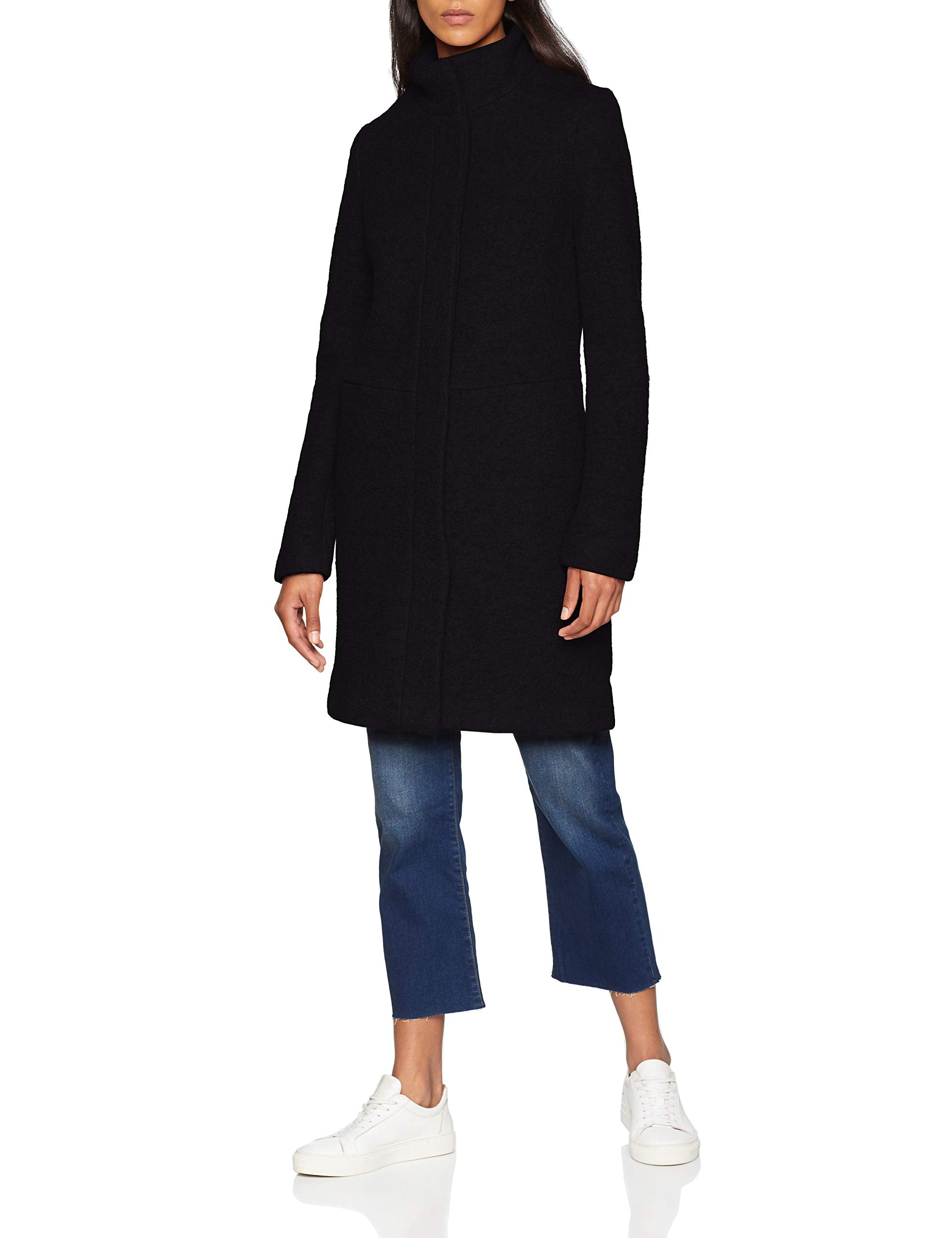 Coat noos Fabricant36Femme Vialanis Clothes Black38taille Vila ManteauNoir bf76Ygy