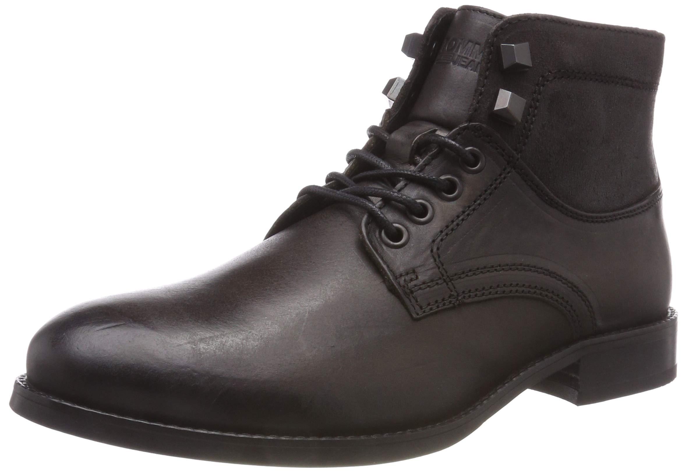 Tommy 02843 Hilfiger Denim Eu Jeans BootDesert Shadow Casual Leather HommeMarrondark 7fYb6gyv