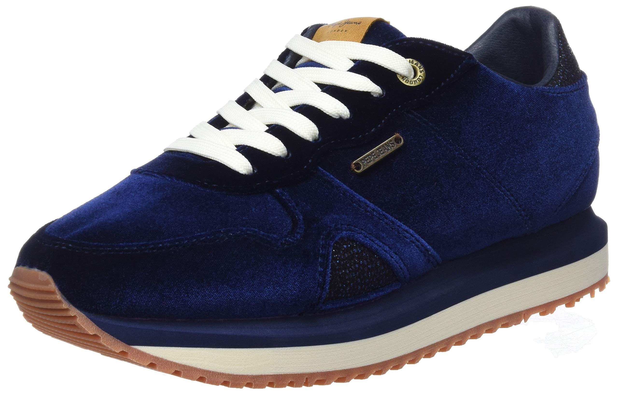 59638 Pepe Blu Zion FemmeBleuairforce London Eu Jeans Basses VelvetBaskets 80vNynwOm