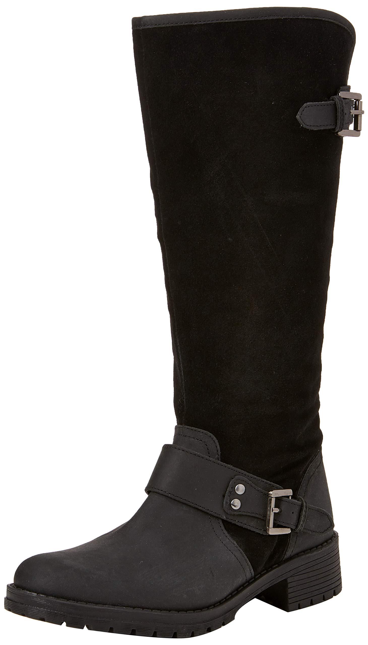 Leather Browns Joe Rider FemmeNoirblack B38 Eu BootsBottes Premium HIED29