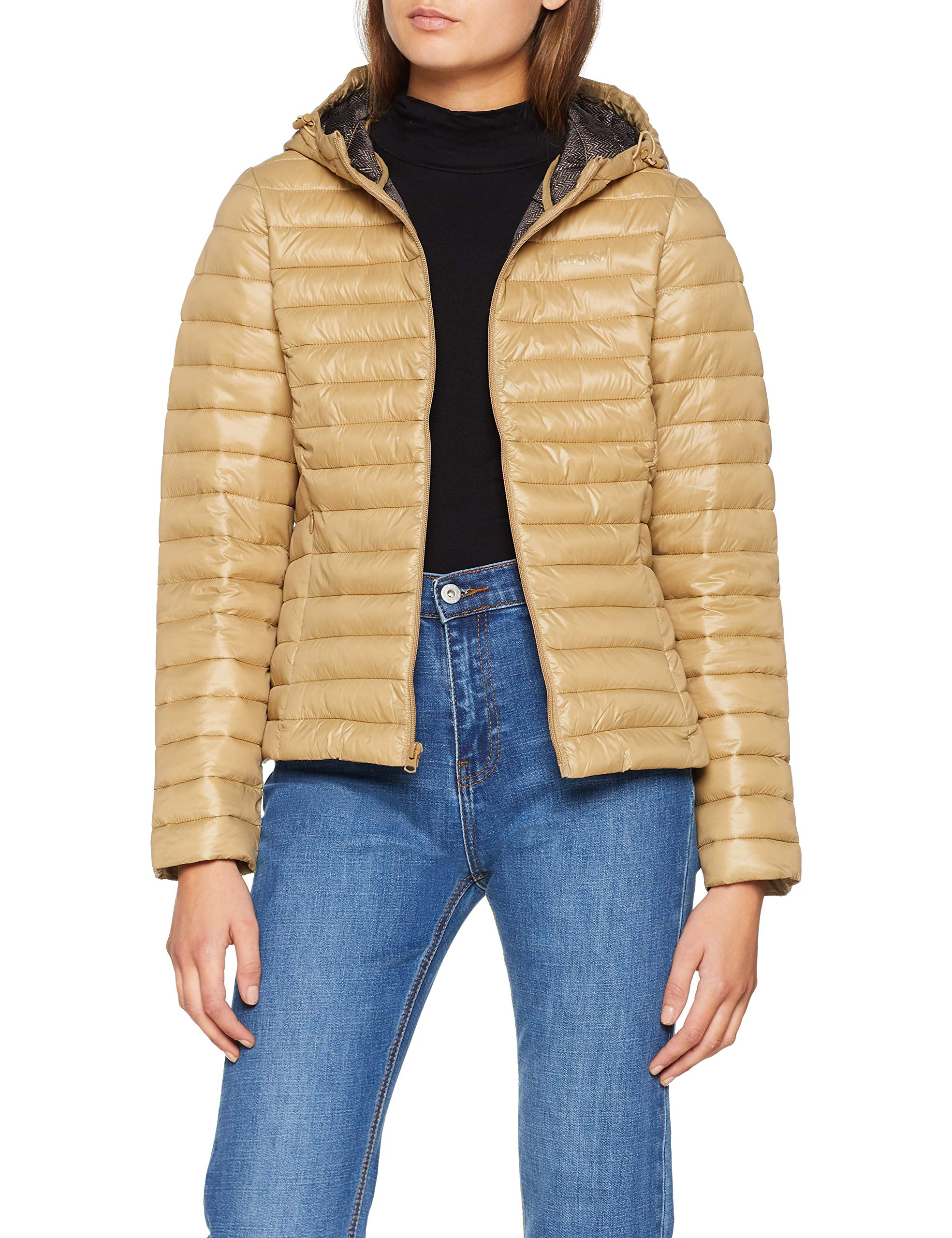 Puffer BlousonClay Wrangler Beige Femme Jacket 4wmMedium ohrxdsQtCB