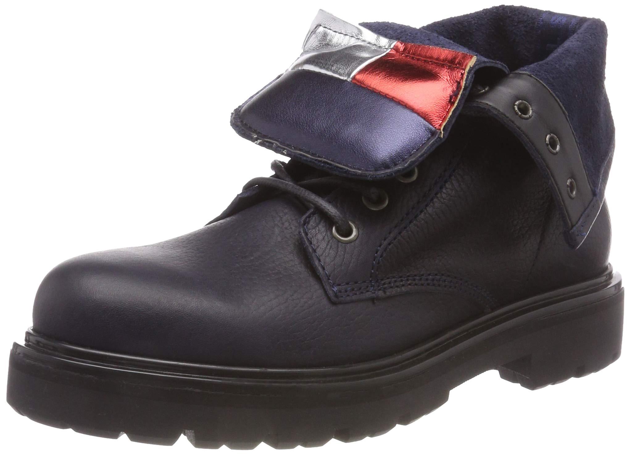 BootBottes Lace Flag Rangers Tommy Denim Hilfiger Up Big Jeans FemmeNoirblack Eu 99037 sdCtrBQxh