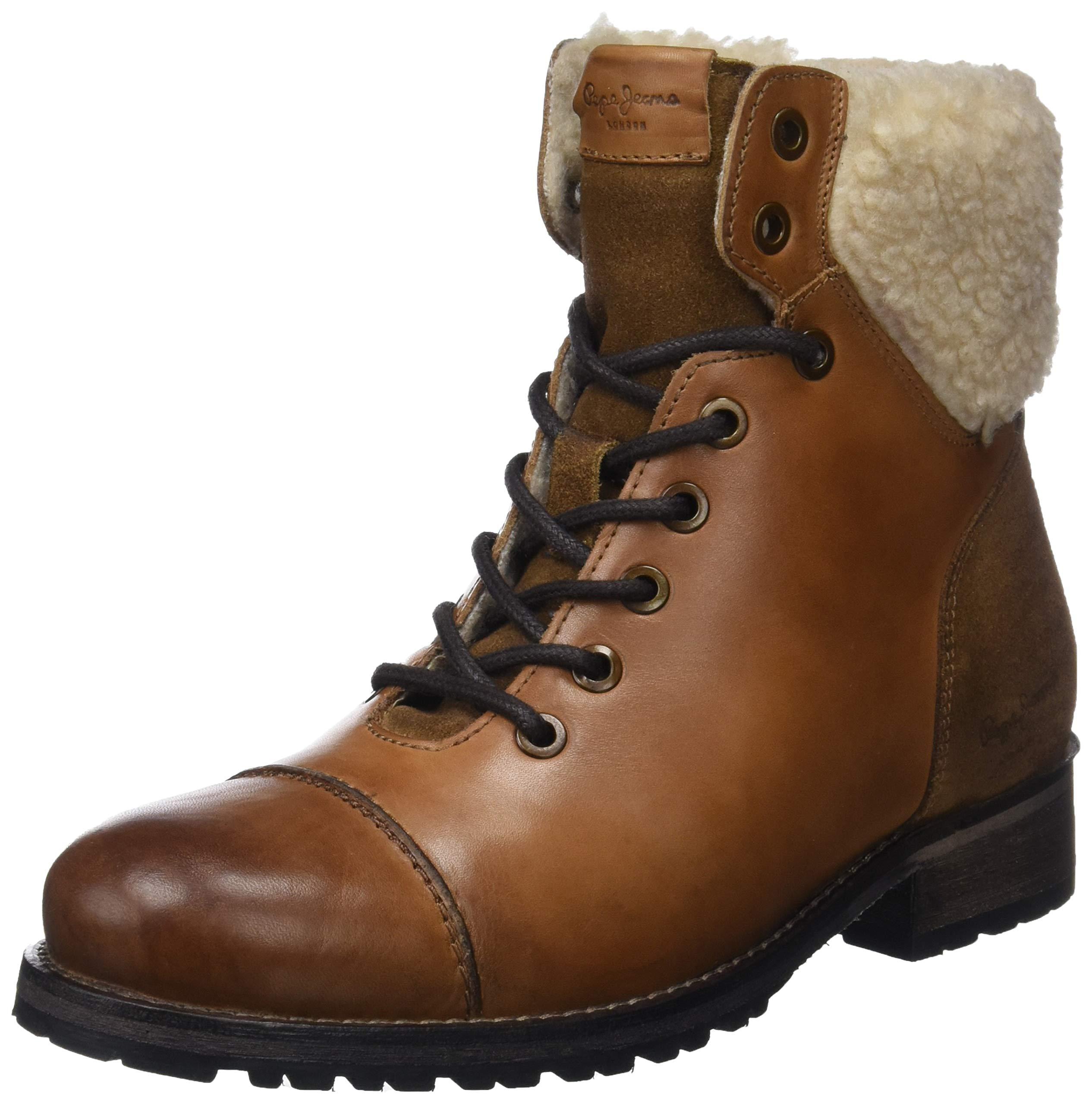Jeans London Eu Brown WarmBotines Melting 87739 FemmeMarronnut Pepe USzMGqpV