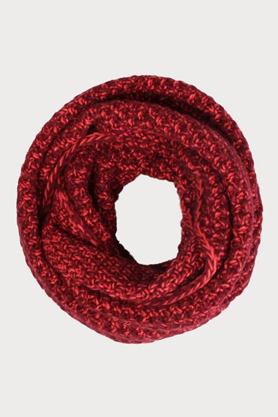 Grosse Cache Bicolore T Maille Snood Rouge PolyesterFemme Taille u CQderxoWBE