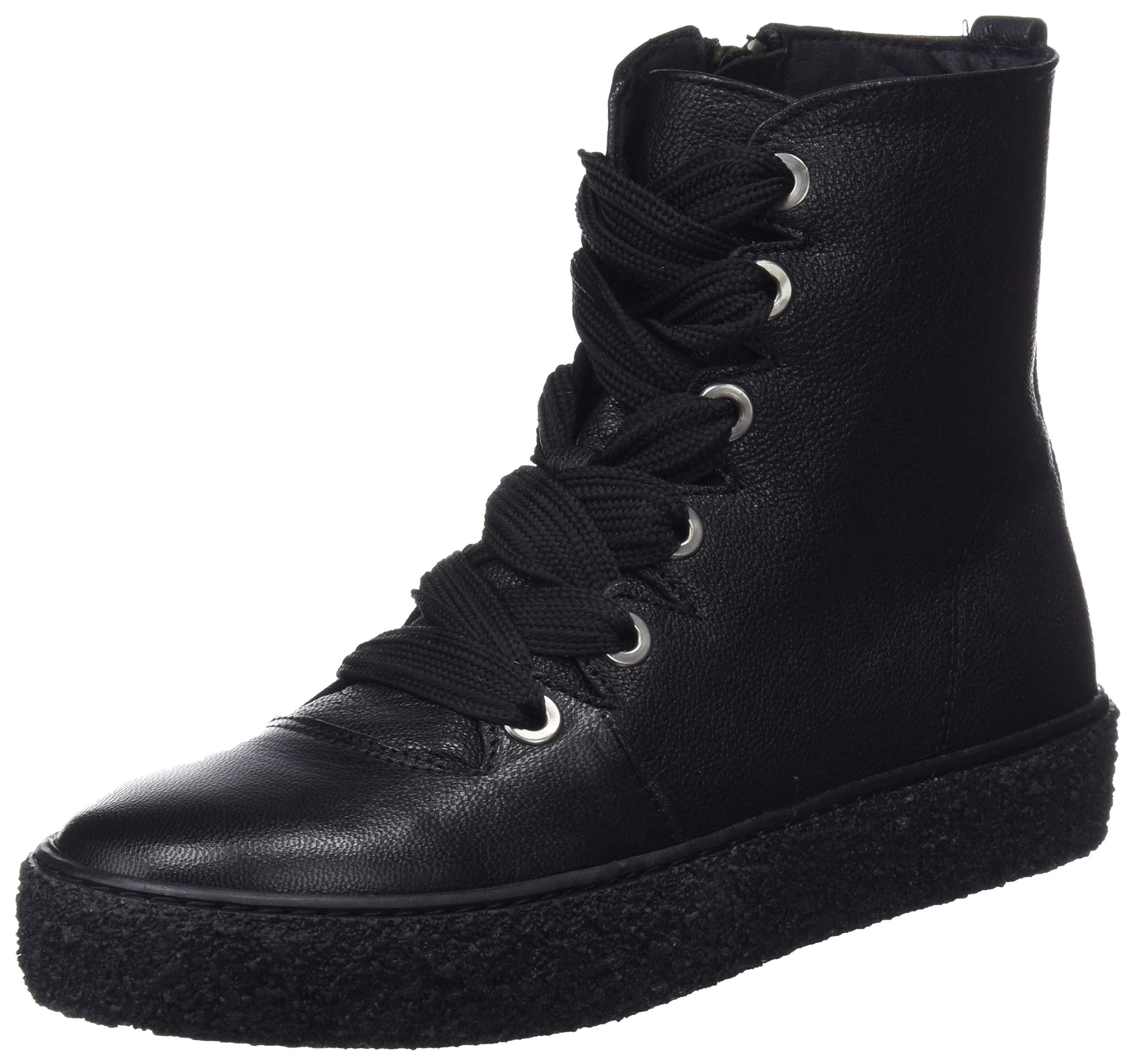Eu FemmeNoirblack 00139 Mamatayoe Leather WendyChaussons Real Montants ulcF5K1J3T