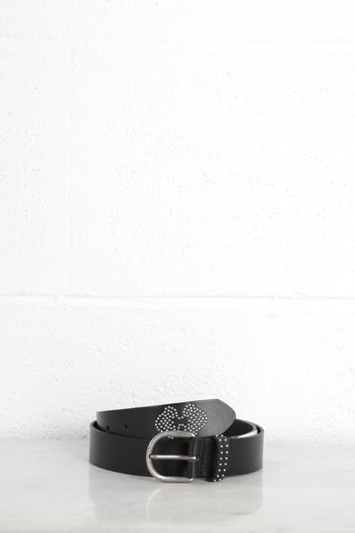 Bonobo Studs VachetteTaille À 75 De Ceinture Cuir Noir Femme TlK1FJ3uc