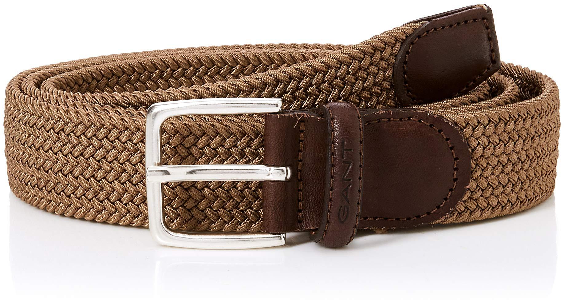 261120 Belt Homme Gant Elastic CeintureMarrondesert Brown Braid nw0PkO