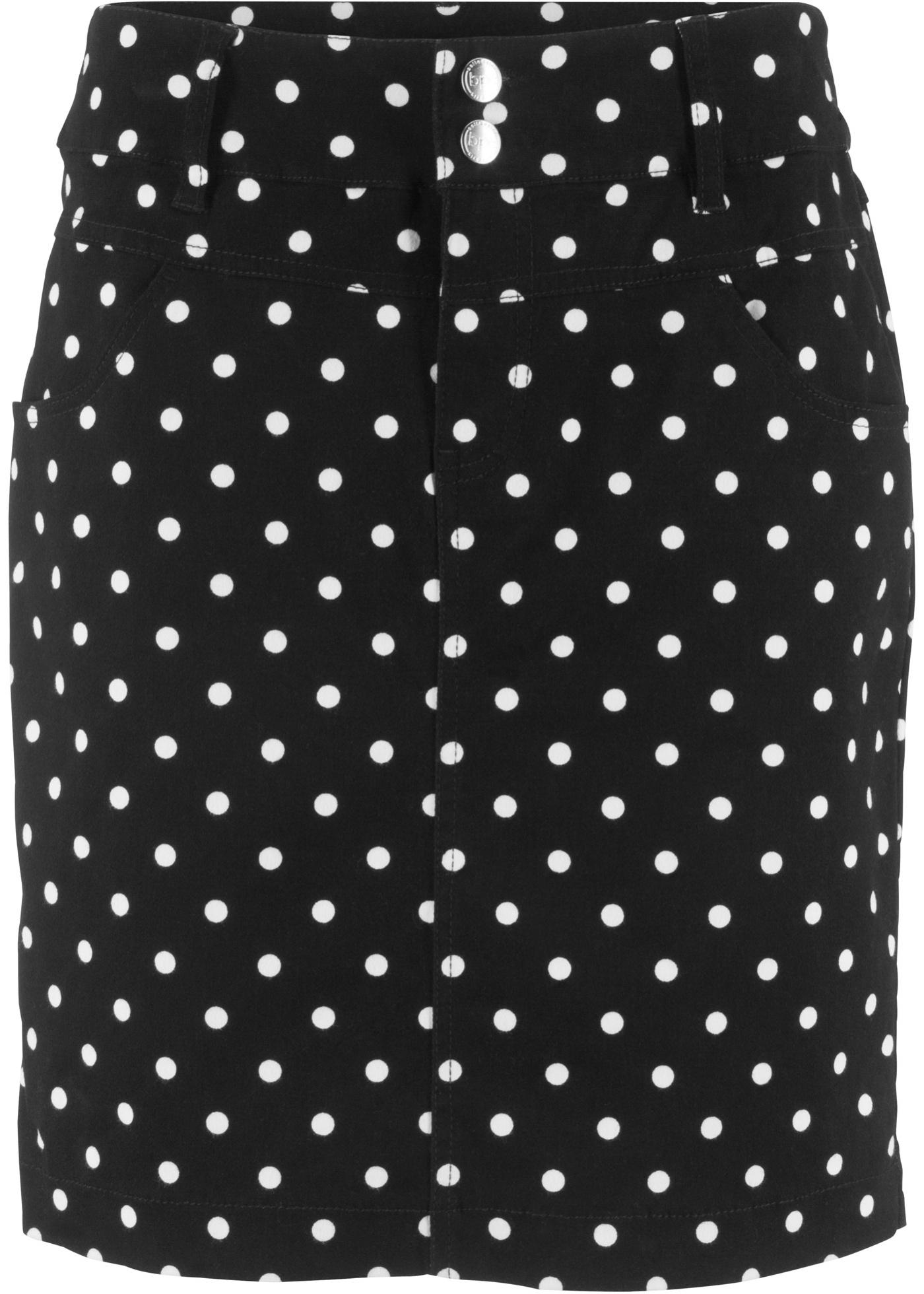 CollectionJupe Extensible En À Femme LycraPois Bonprix Pour Teneur Bpc Noir O80XPnwk