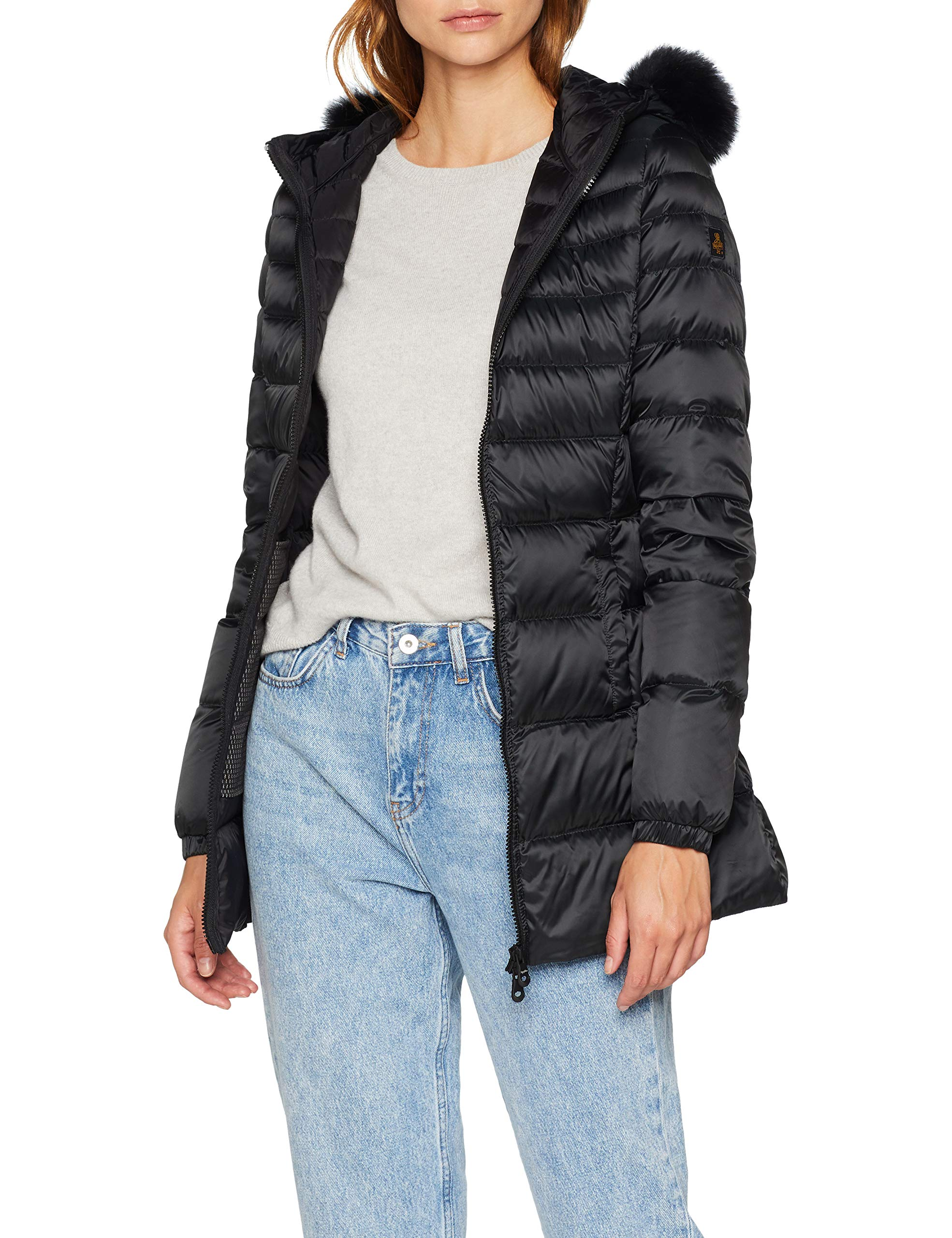 G06000M Long FurManteau FemmeNoirnero Mead Refrigiwear 0Ok8nwP
