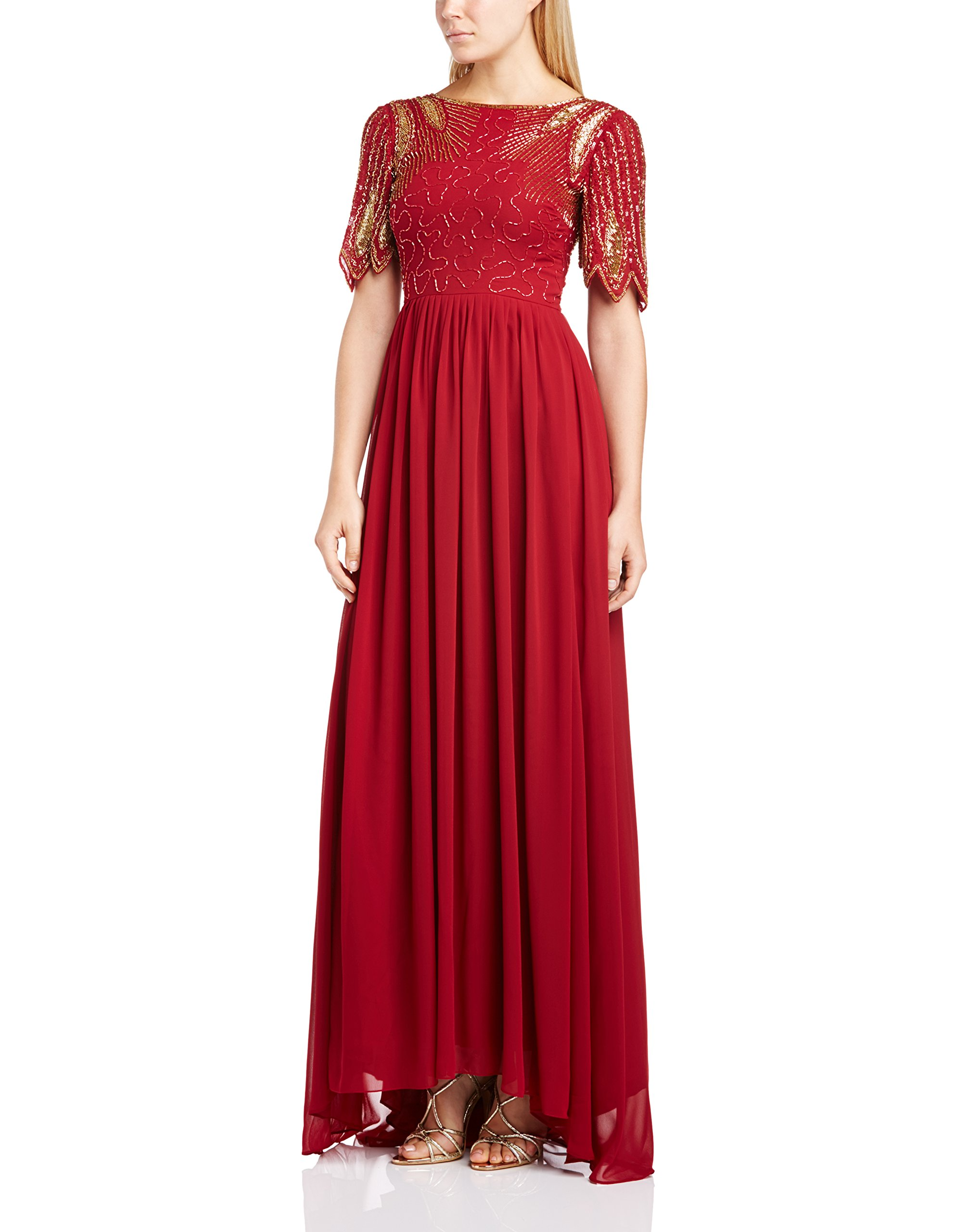 Maxi RobeRougewine Virgos Lounge Lena red38 Femme fy6gvIY7bm