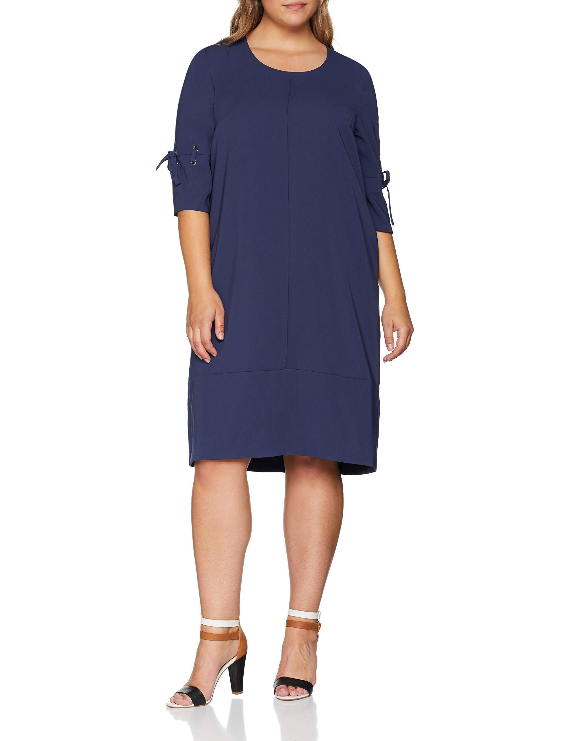 Kleid 8020350 RobeMarrontinte Femme Samoon Gewebe vmnyO0N8w