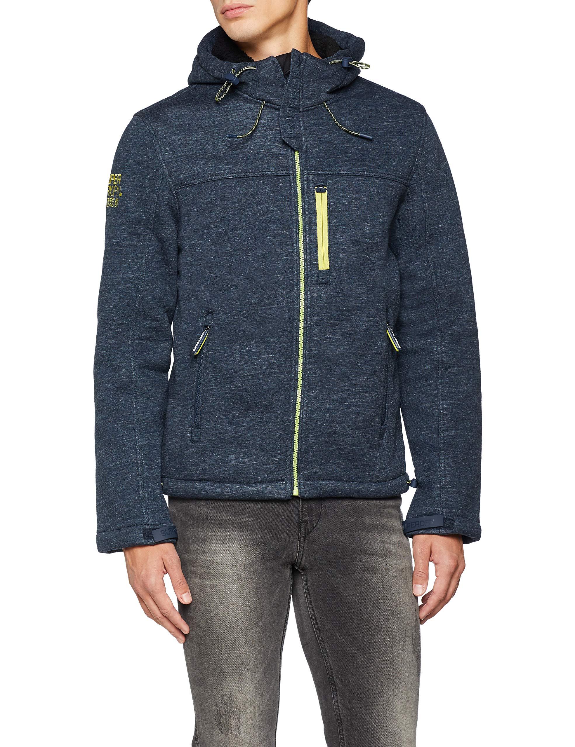 black Winter Windtrekker Homme De Superdry Veste Navy Marl Uo7Large SportBleudark Hooded 0POk8nw