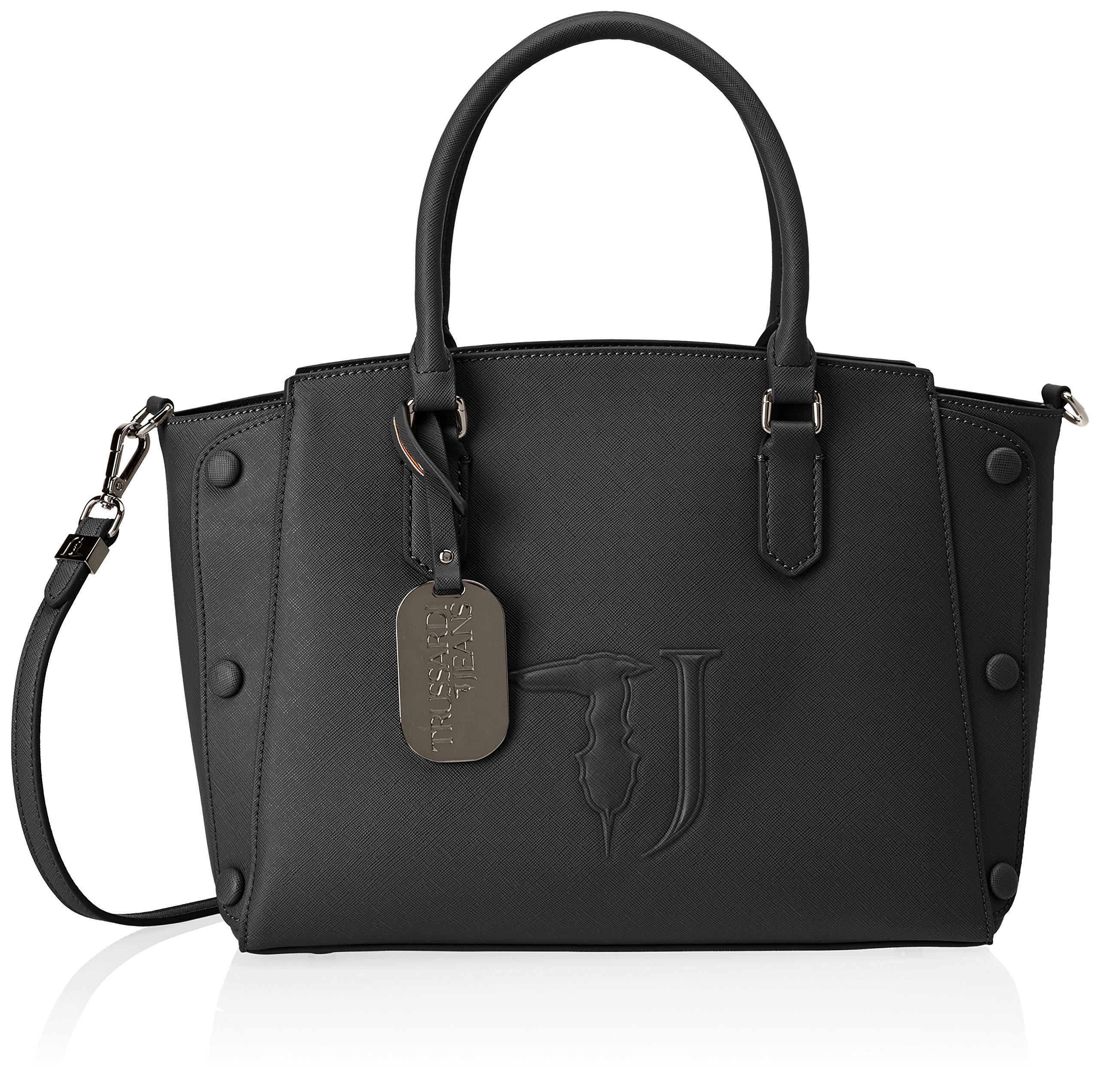 L Medium X Tone21x24x13 Trussardi On Covered Tote Cmw StudsFemmeNoirblack 5 Bag Melissa Jeans H wkPN0OX8n