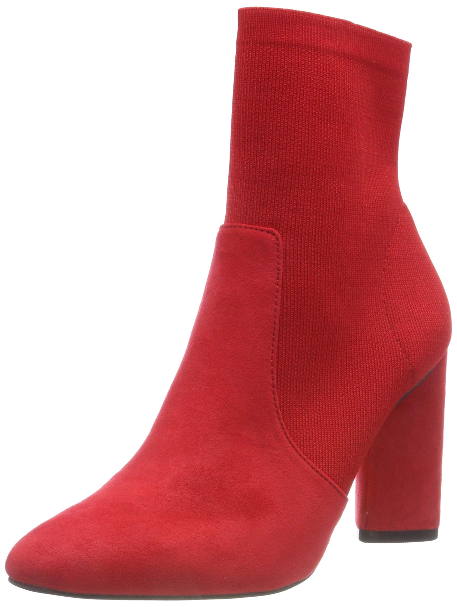 44439 Knit Sock FemmeRougered Bianco BootBottines Eu shBdtrxQC