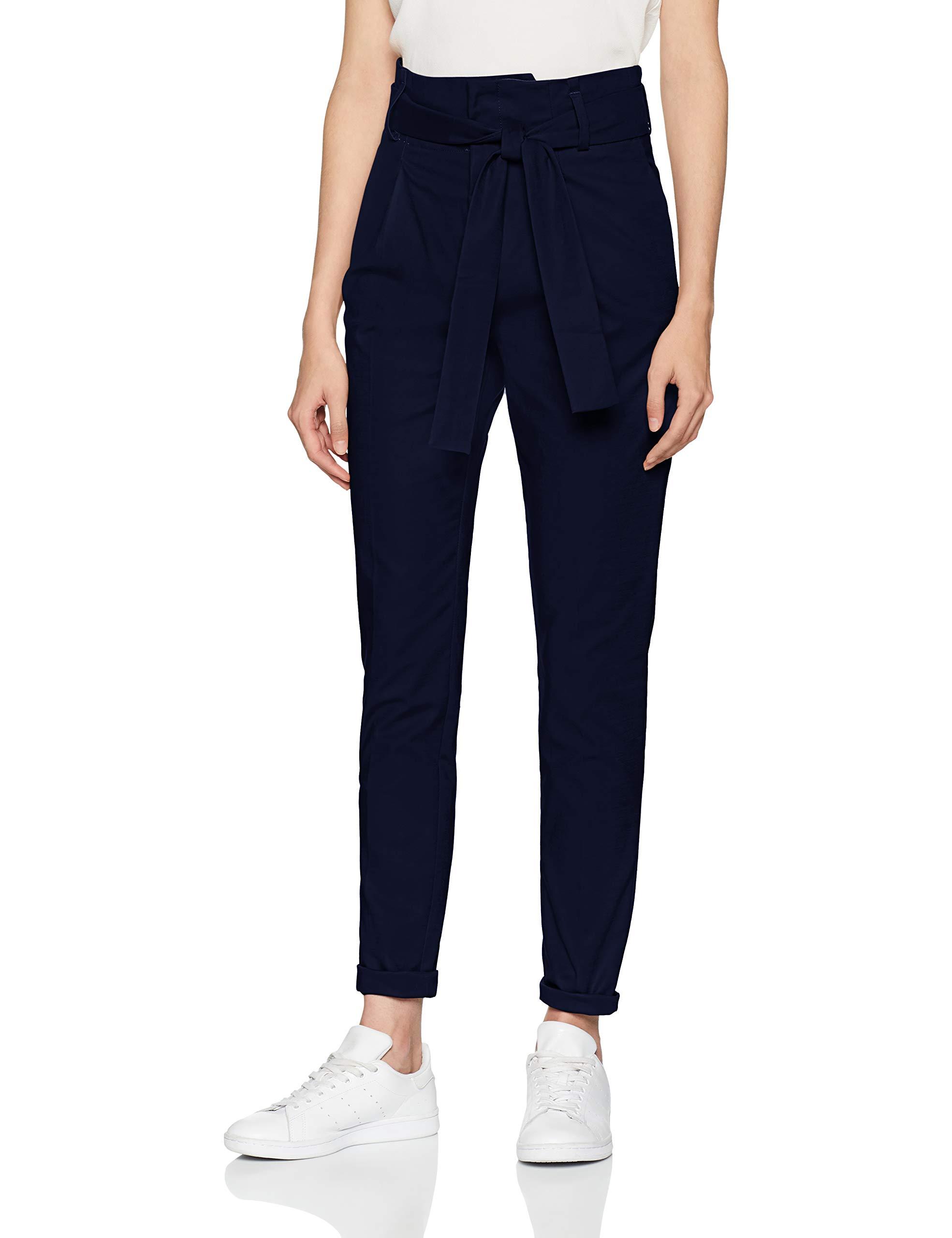 Blue Basic Straight 83338 Trousers Leg Noa Stretchs bleumaritime Femme f6Ybyvg7