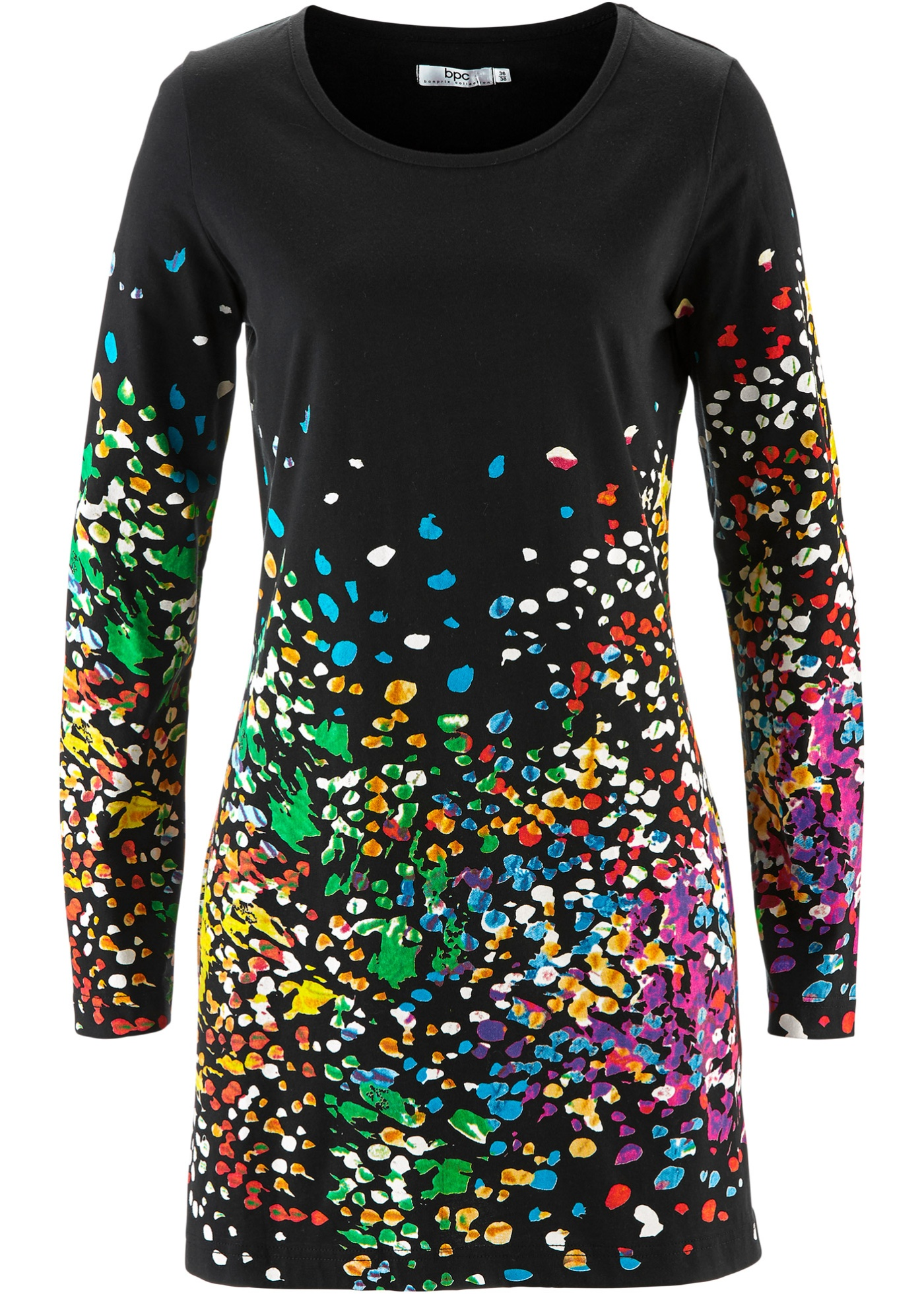 Bonprix shirt Bpc CollectionT Pour Noir Femme TuniqueManches Longues j5L34AR