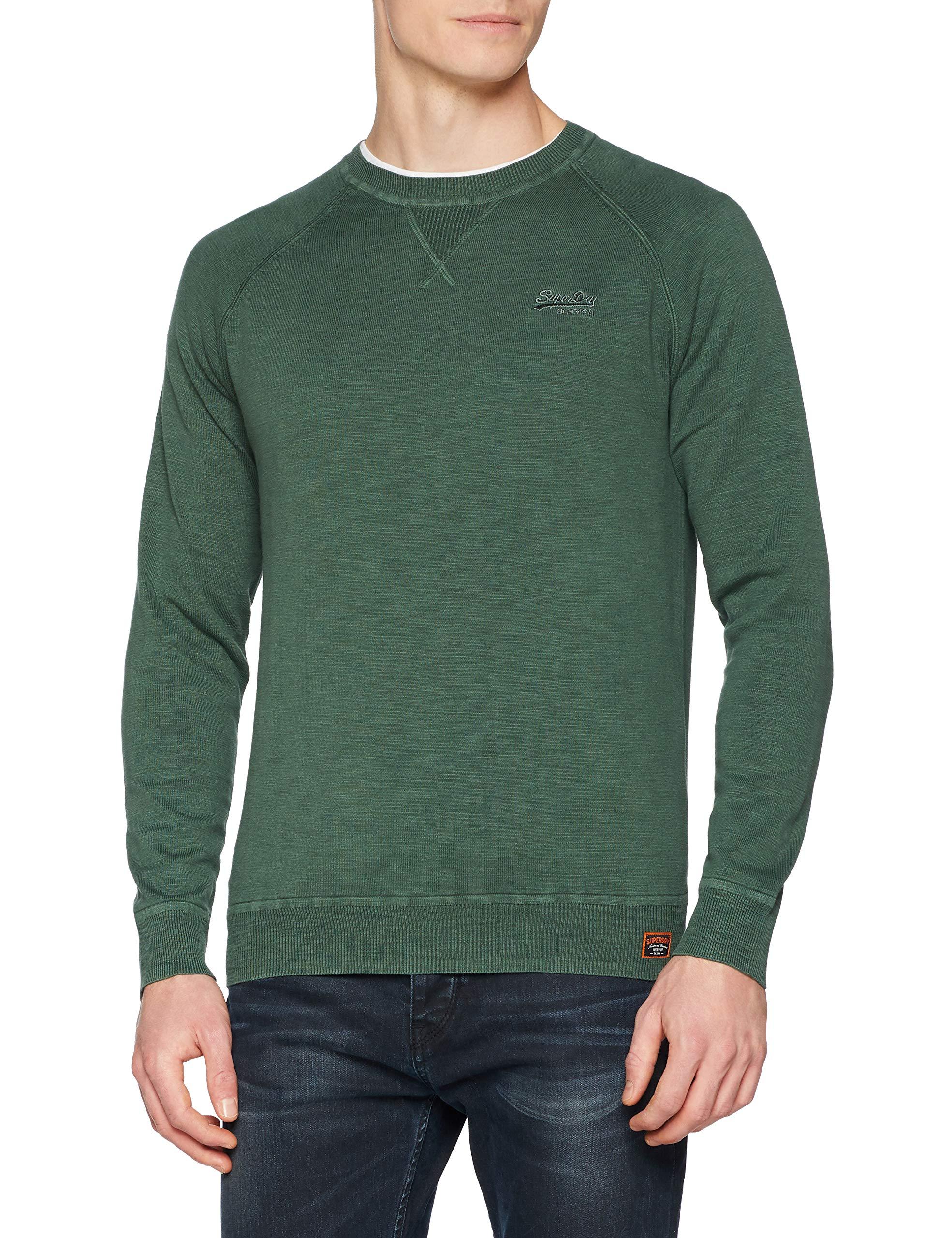 Dye Garment L De Forest SportVertwashed Homme aCrew Superdry large Up7X Sweat shirt 8wXknOP0