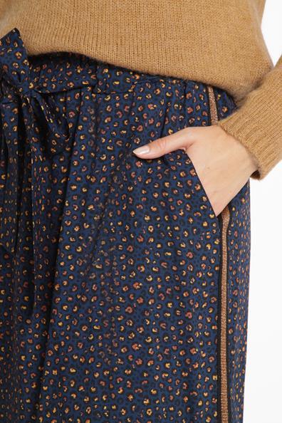 Jupe Taille Paperbag Cache Détails Bleu 34 Imprimée Sporty ViscoseFemme OiuTXZPwk