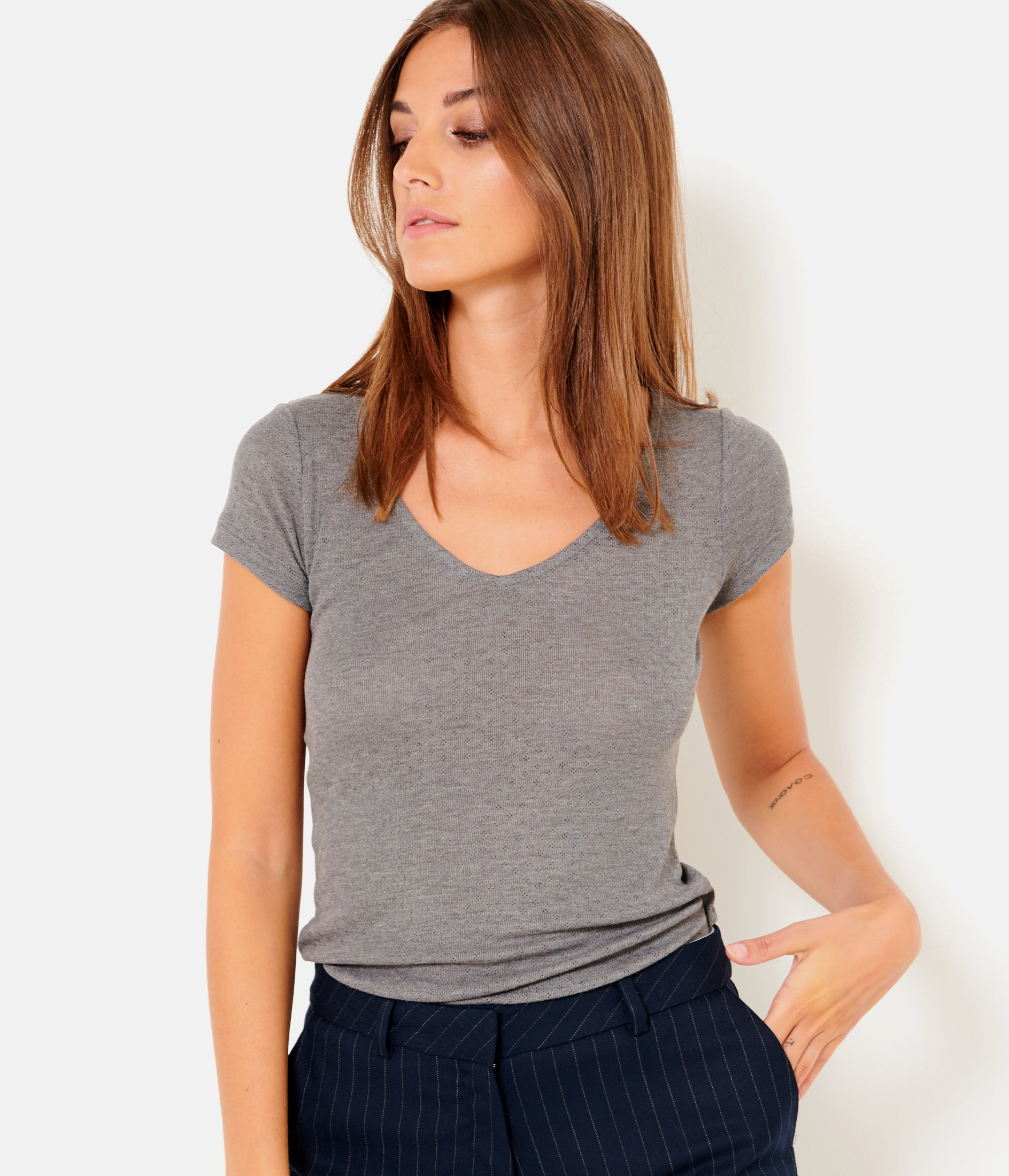 Femme Camaï shirt Pointelle Camaïeu T 6gf7by
