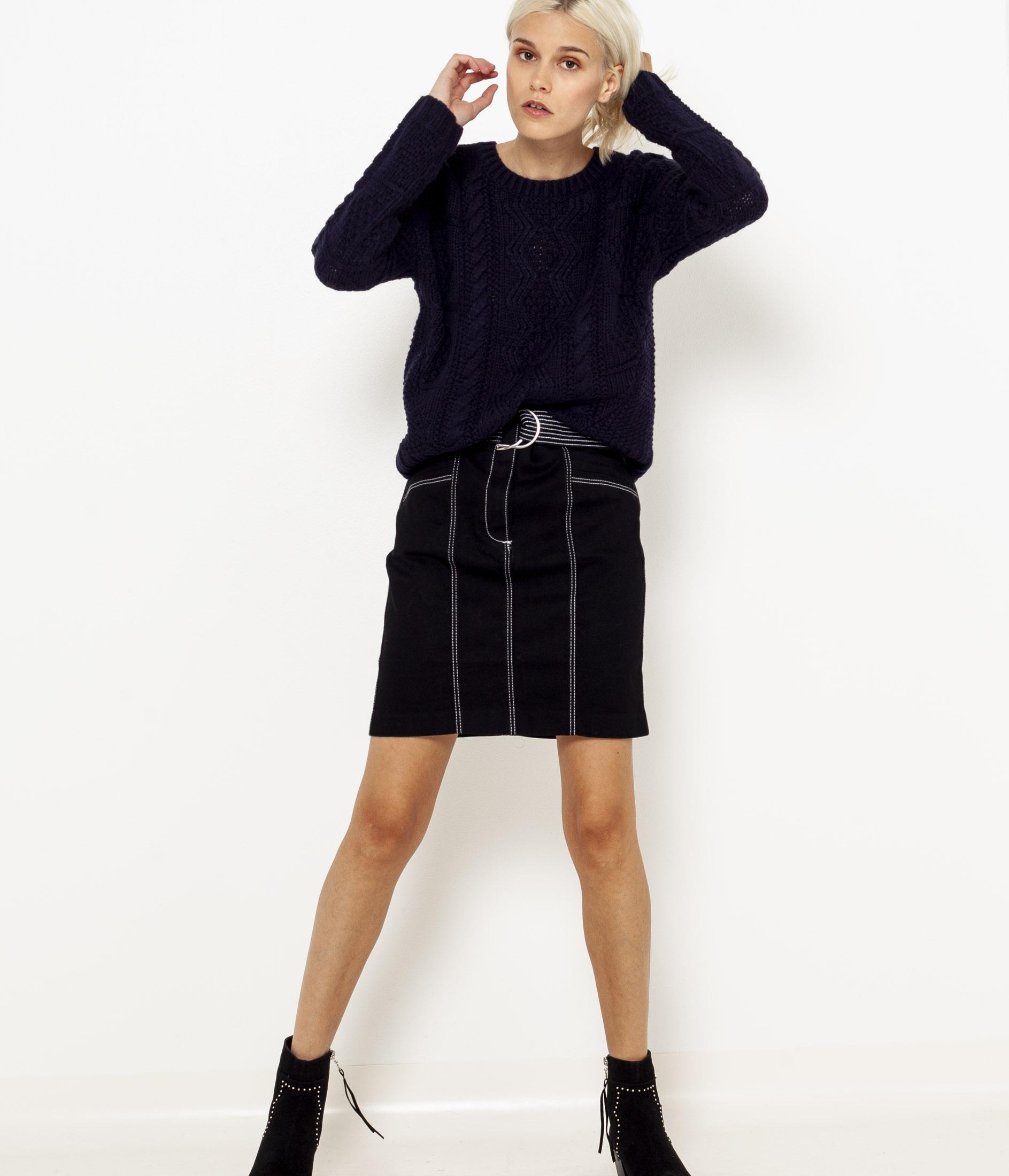 Jupe Taille Droite Camaïeu Femme Haute O8wknP0