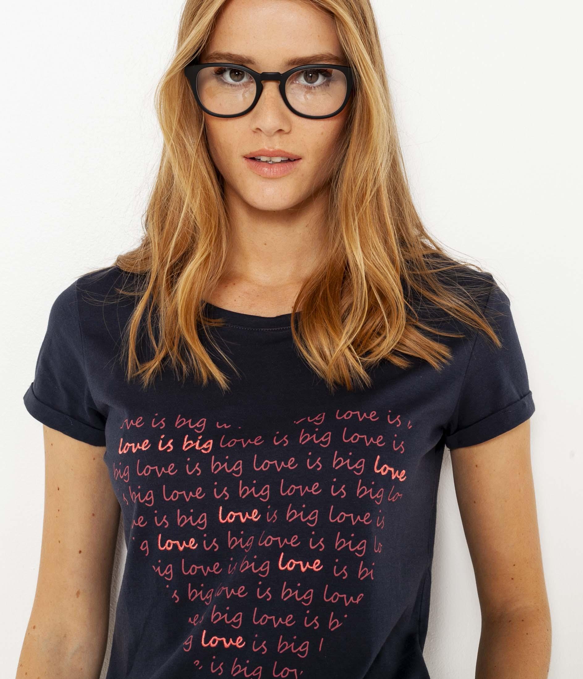 À shirt T Camaïeu Femme Message 53jqA4RL