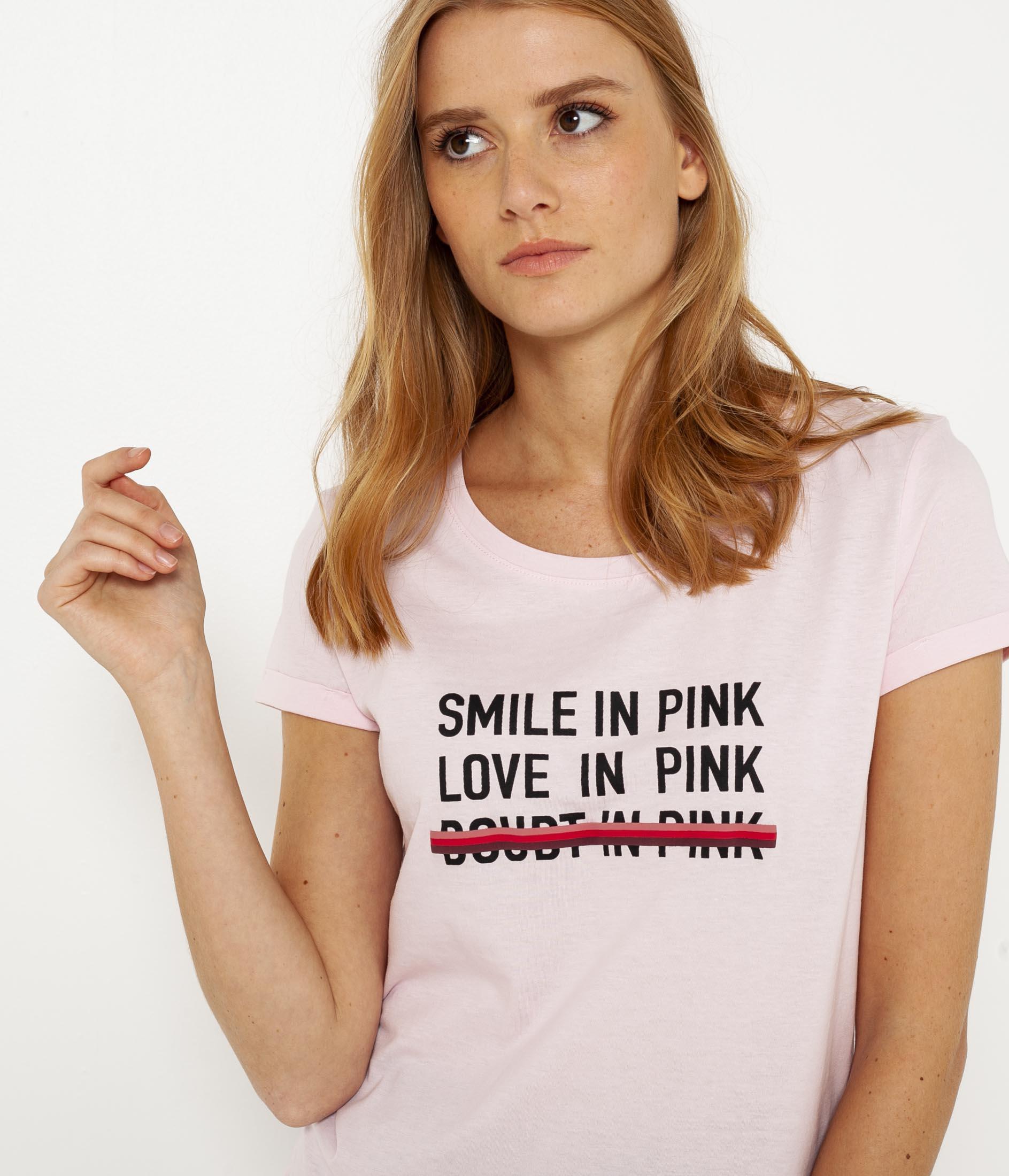 Femme À shirt Message T Camaïeu CxEdrBQoeW