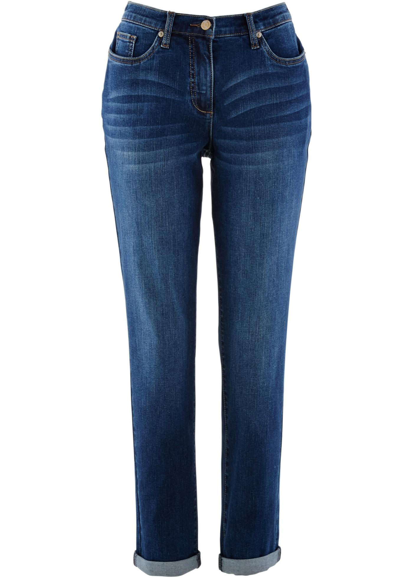 Femme Bleu Bonprix Pour Avec Boyfriend Bpc CollectionJean Taille Extensible Confortable eI2EDWH9Y