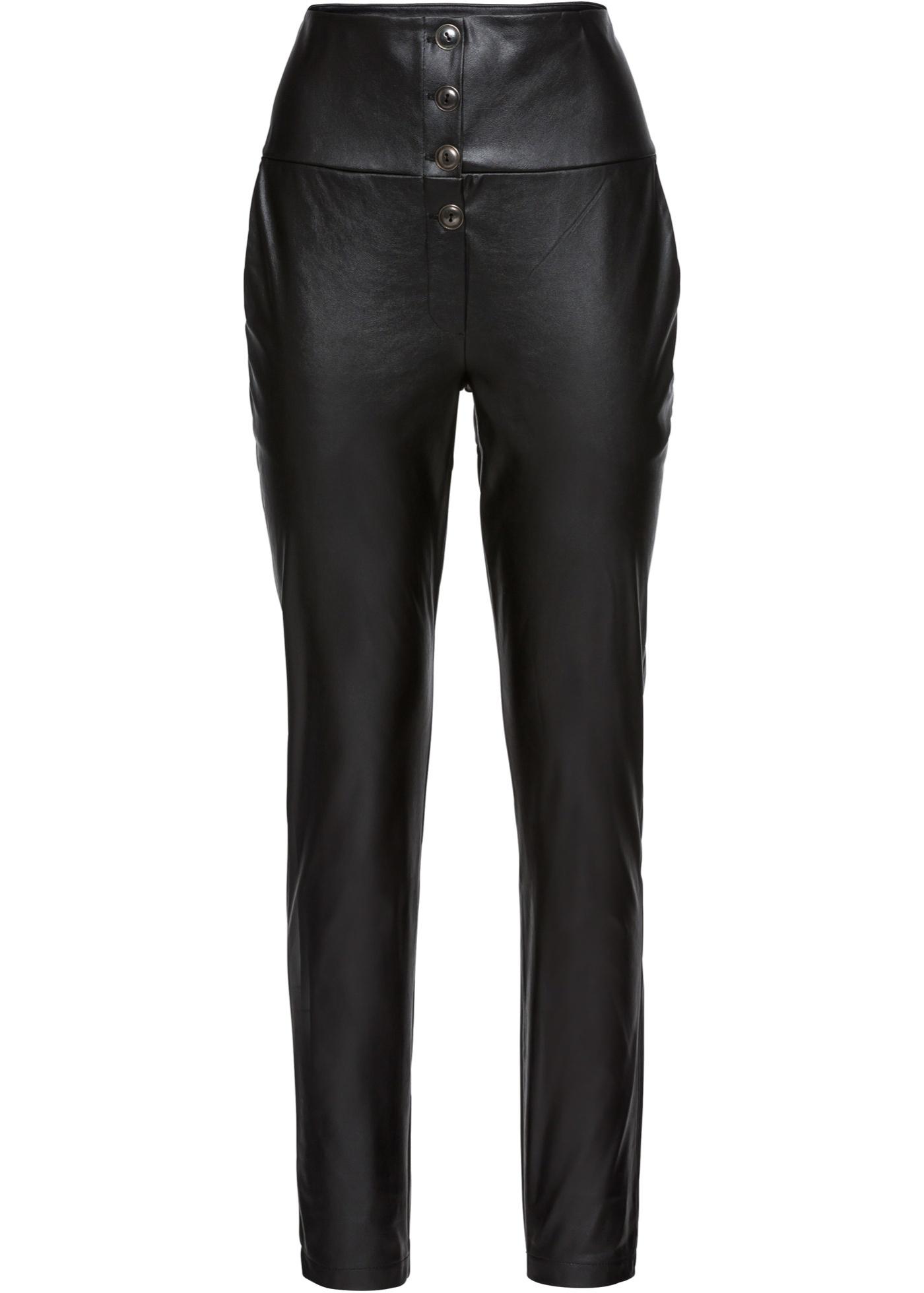 Rainbow Taille Noir Pour Synthétique Imitation BonprixPantalon En Cuir Femme Haute srxhtQdC