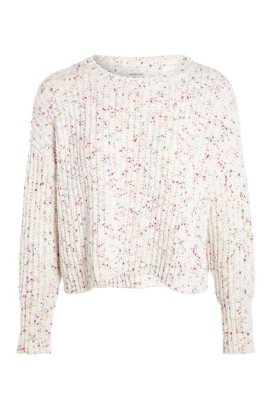 Cache Taille Beige Pull Touches PolyesterFemme Xl Chenille Multicolores QdCBoeWrx
