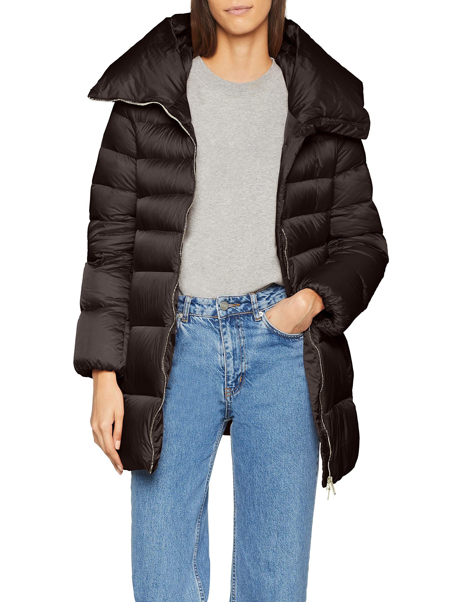 Short Femme Coat small Add Hooded Down ManteauNoirblack 8506X Y76gybf