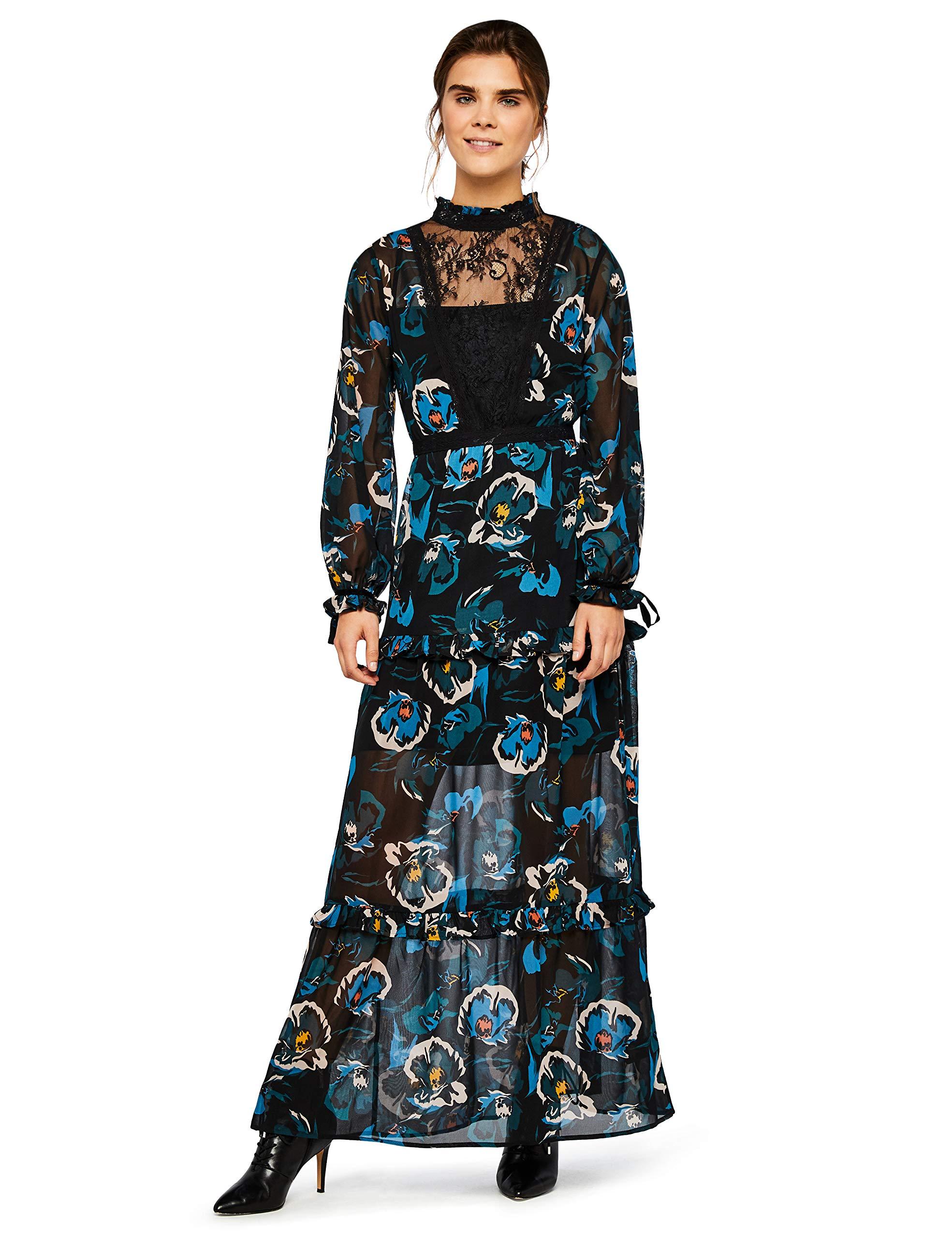 FindWaterfloral SoiréeNoirwater Robe FabricantX large De Maxi Dress Lace With Floral44taille OkXiPZu