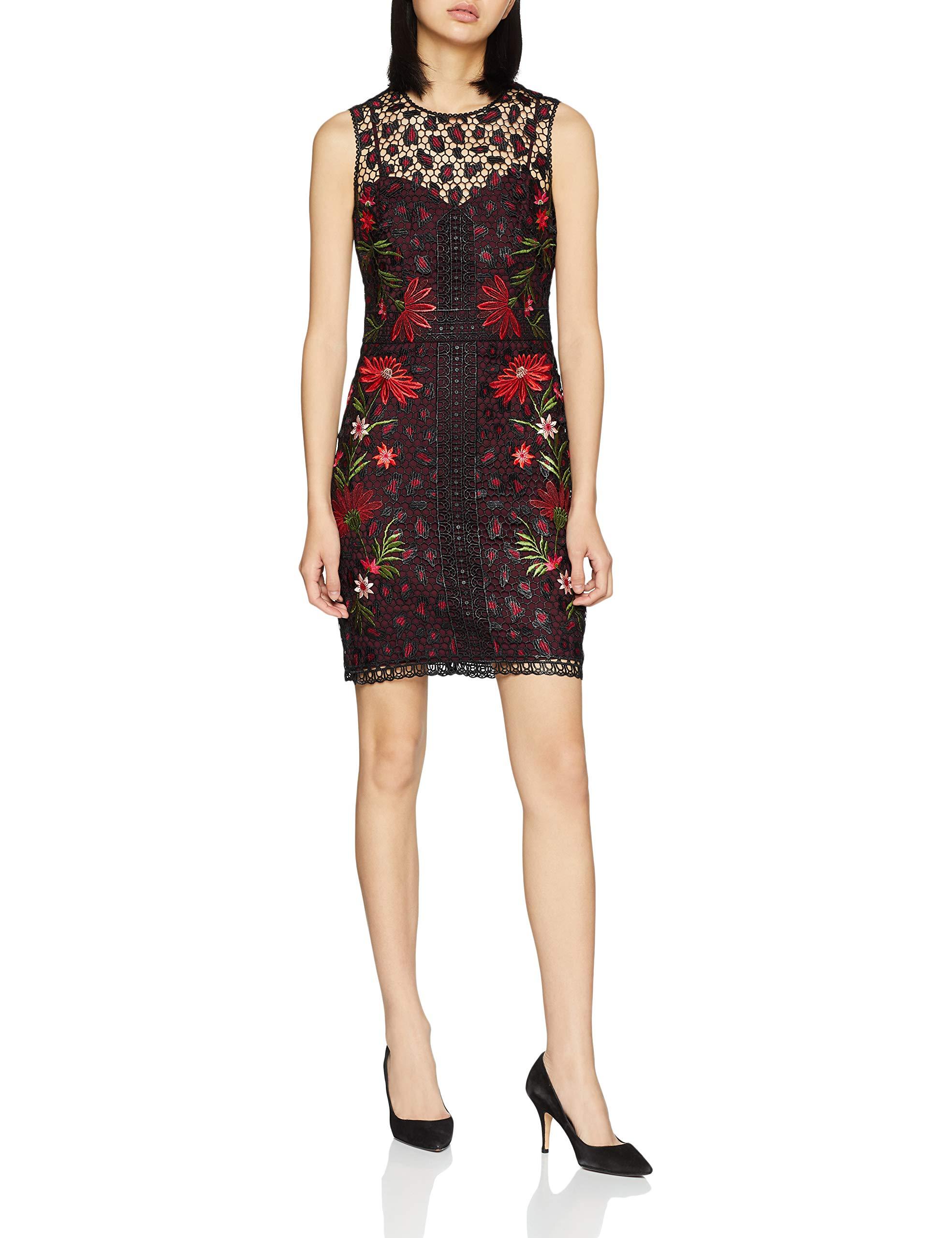 12Femme FabricantUk Chemical Leopard De Dark Dress Lace Floral SoiréeMulticoloremulticolour40taille And Robe Karen Millen RL3j4A5