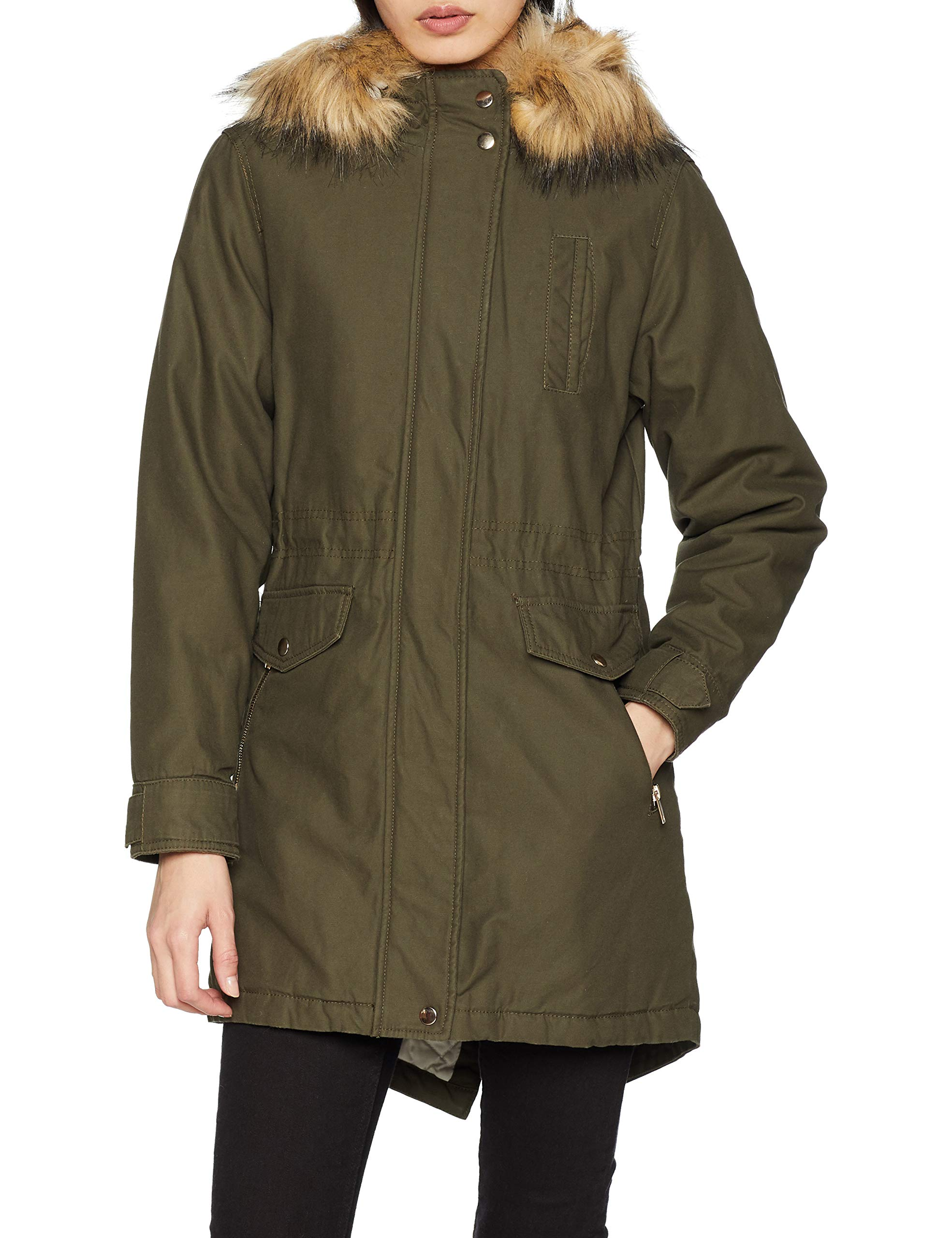 Look New ParkaVertdark Chicago Khaki38taille Fabricant10Femme xedCBo