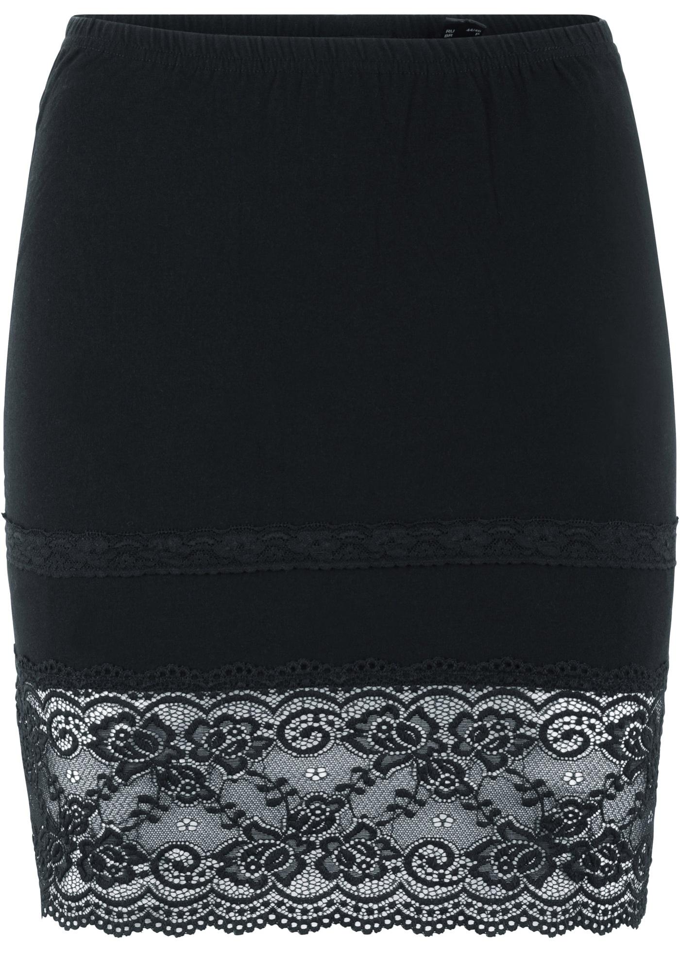 Bpc Manches Pour Bonprix Femme shirt De Sans CollectionExtension À Dentelle Noir T T3F1JcKl